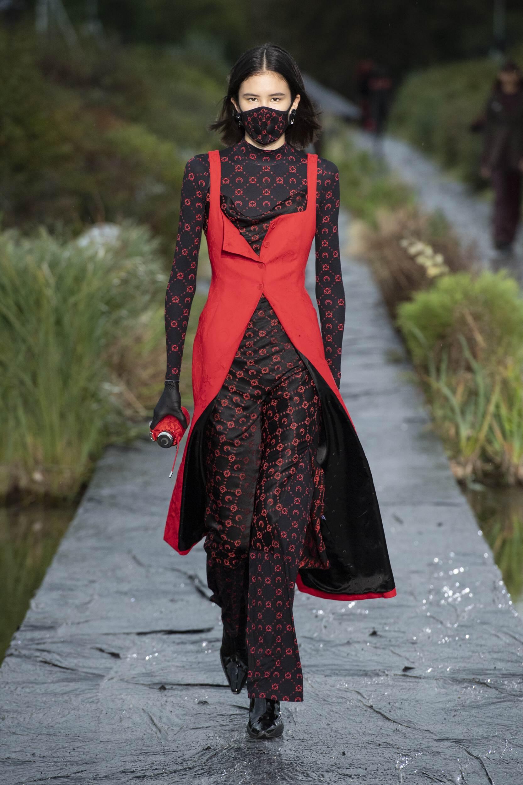 Runway Marine Serre Spring Summer 2020 Women's Collection Paris Fashion Week