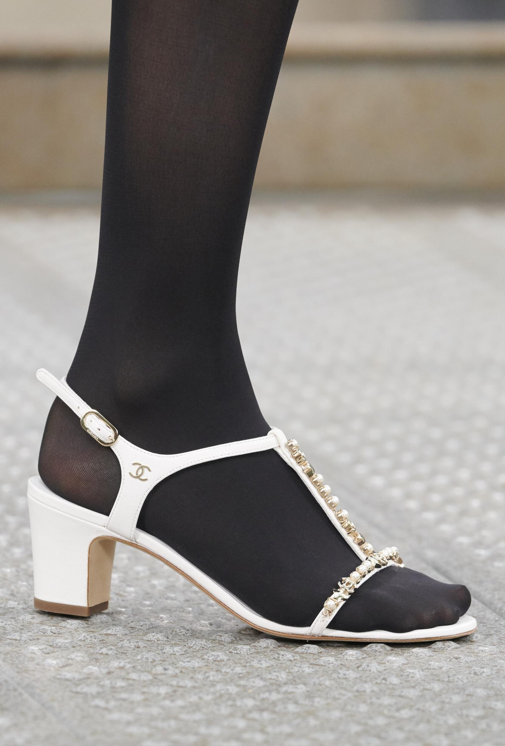 Shoe Detail Chanel Woman Fashion Show Summer 2020