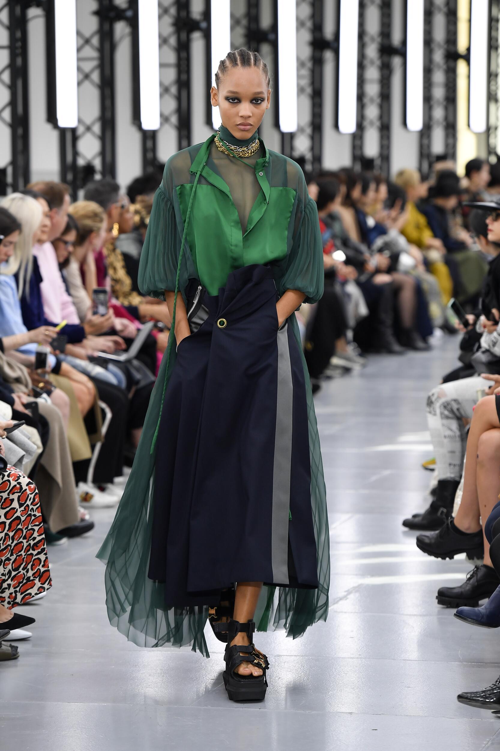 Spring Summer 2020 Woman Paris Sacai Collection