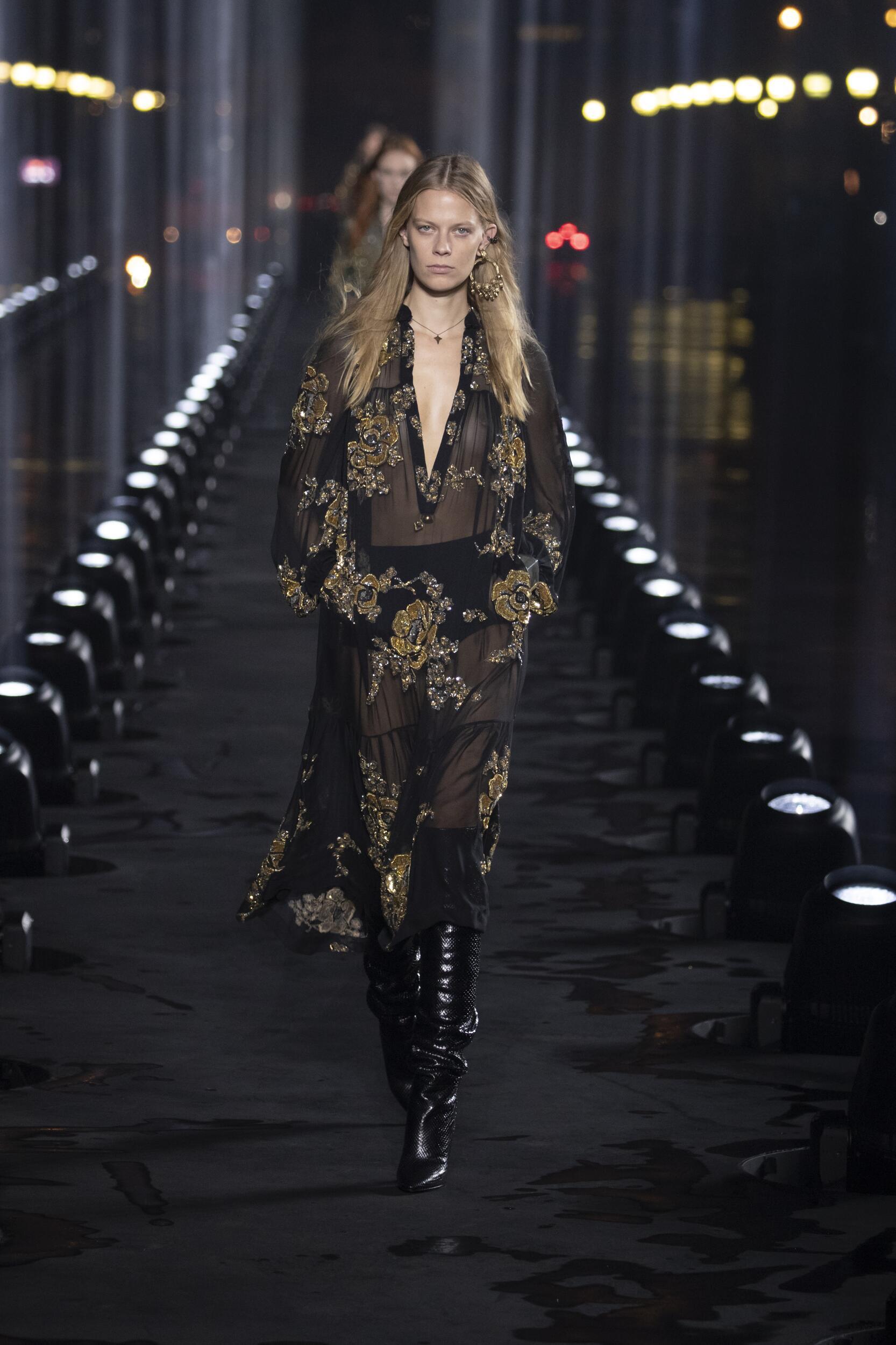 Spring Summer 2020 Woman Paris Saint Laurent Collection