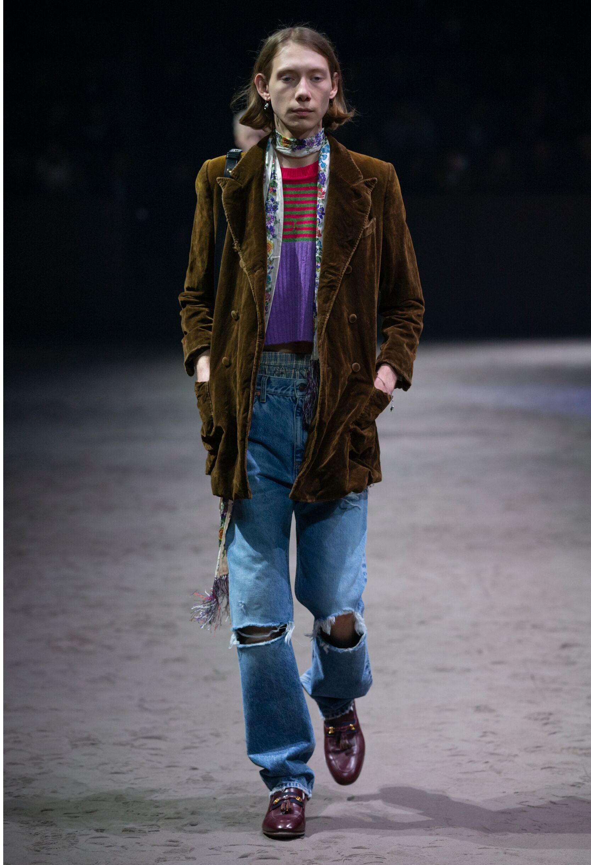 2020 Catwalk Gucci Man Fashion Show Winter