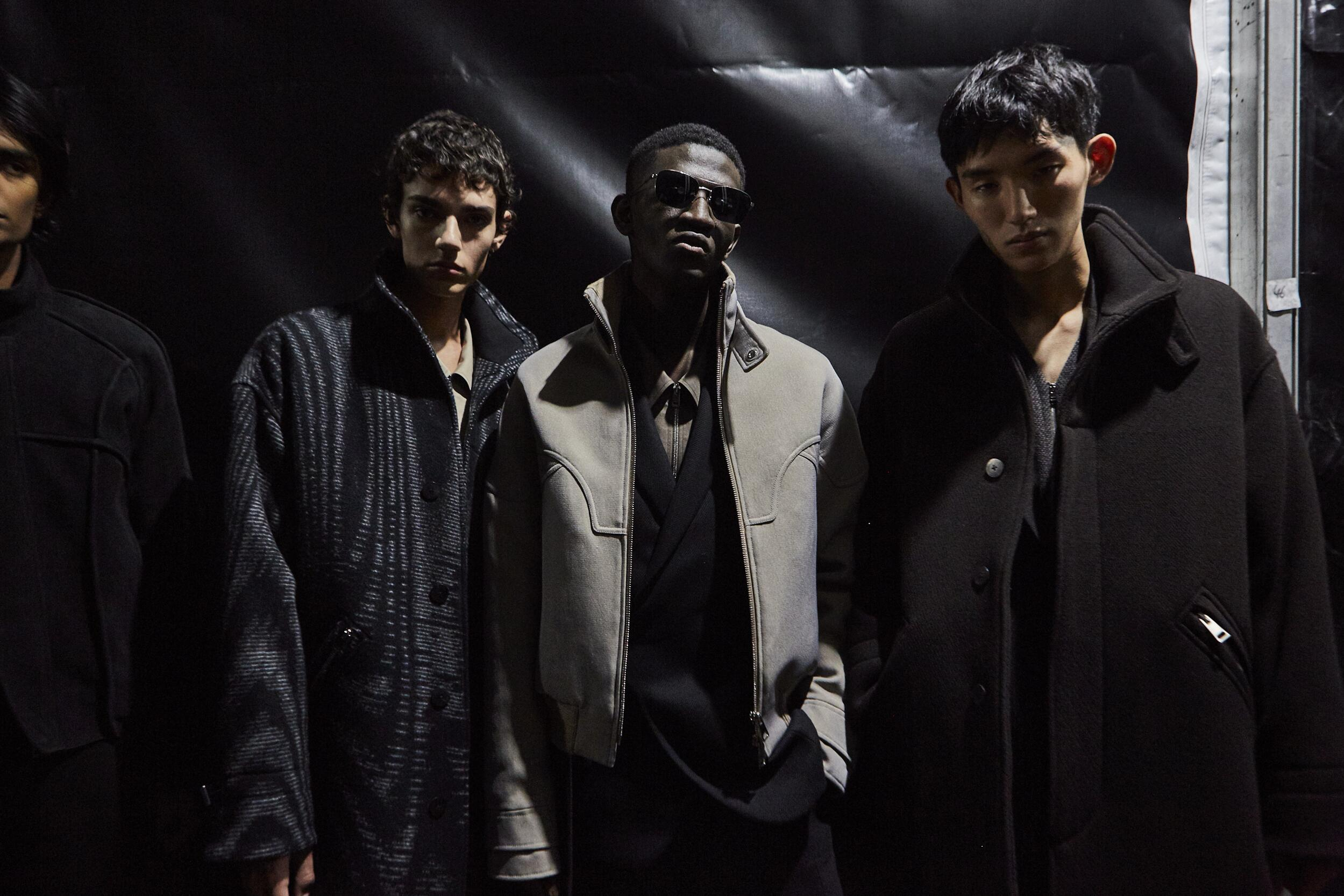 Backstage Ermenegildo Zegna XXX Models Fall Winter 2020