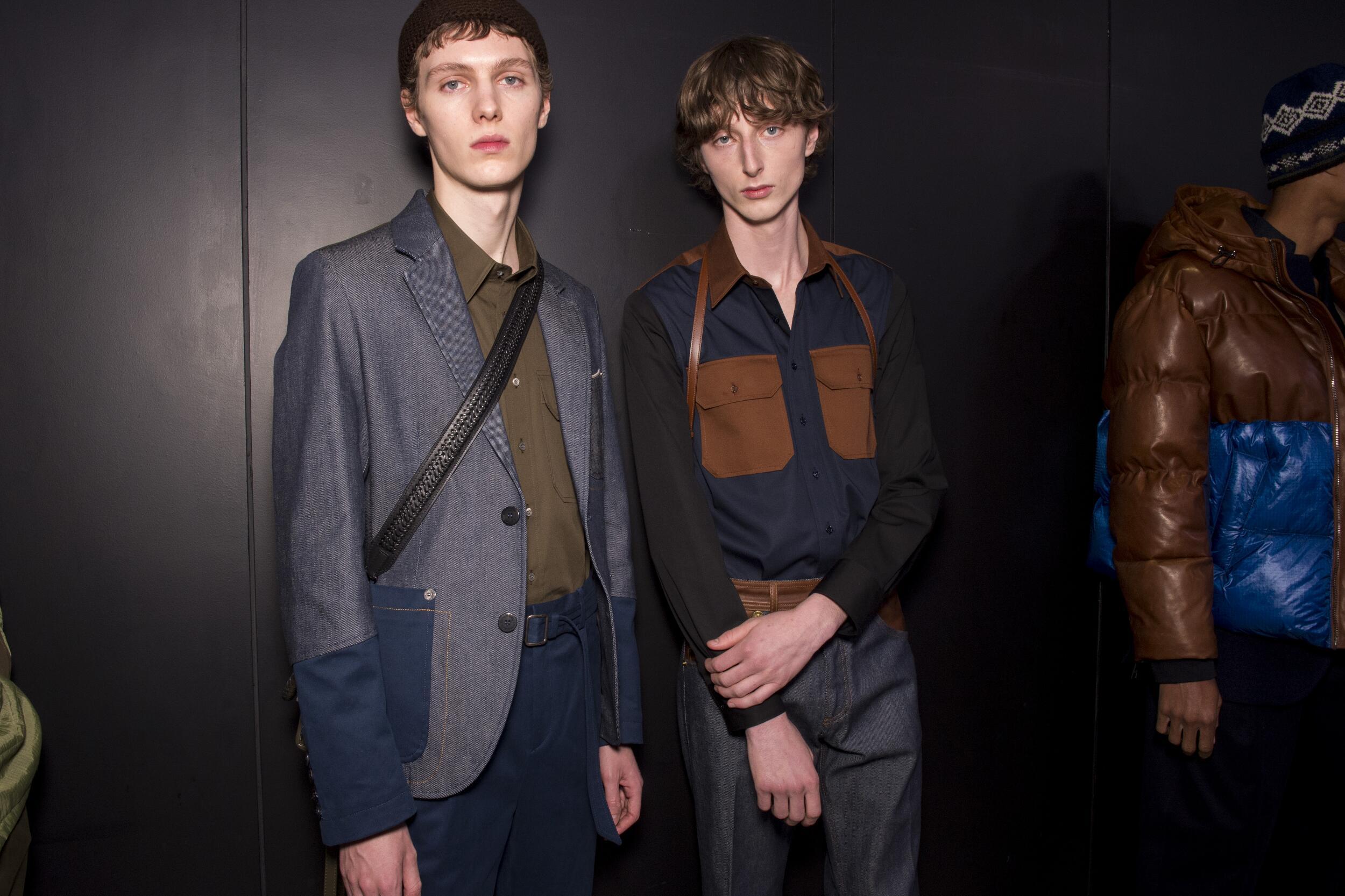 Backstage Neil Barrett Models Menswear 2020