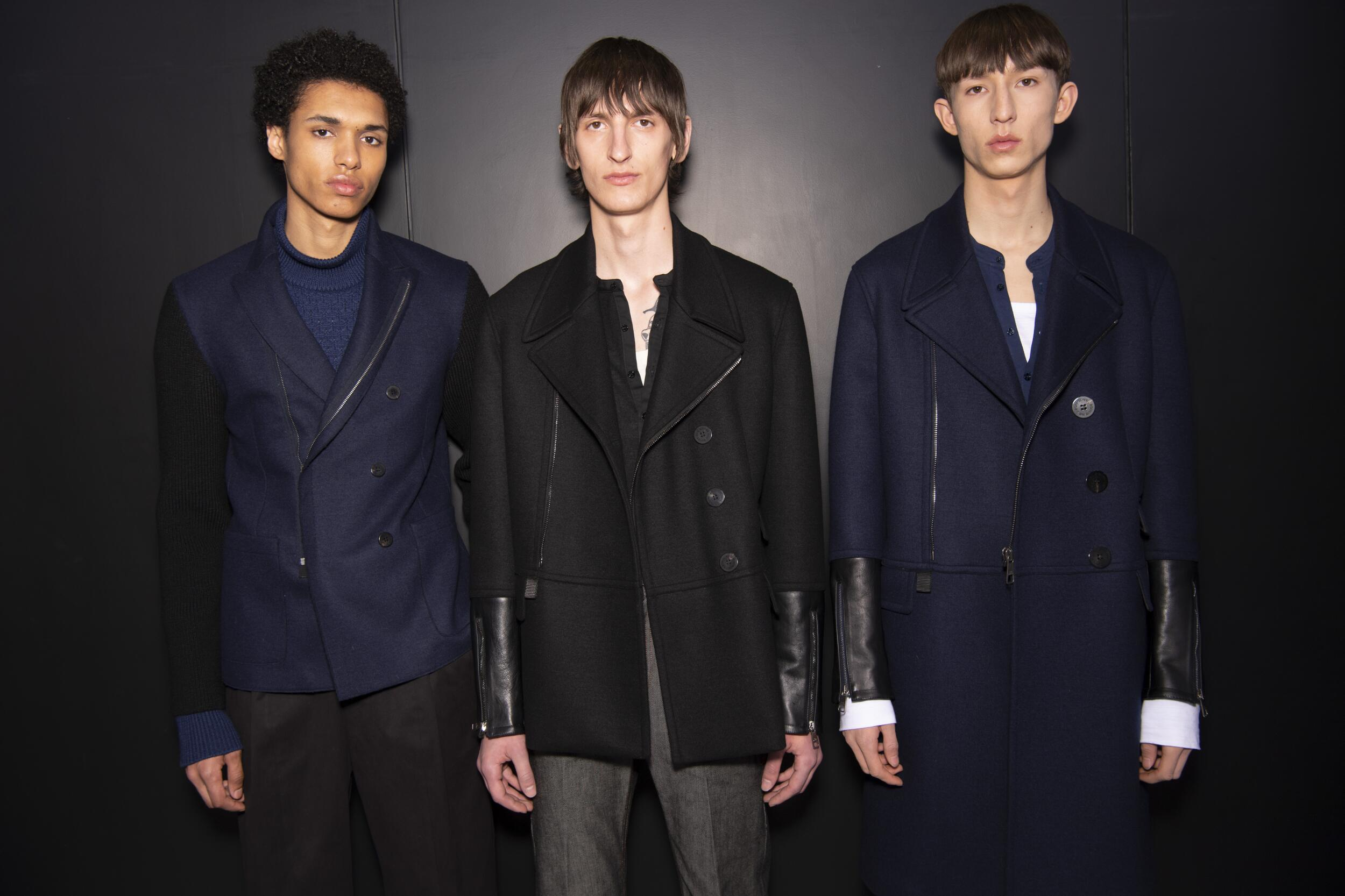 Backstage Neil Barrett Models Menswear
