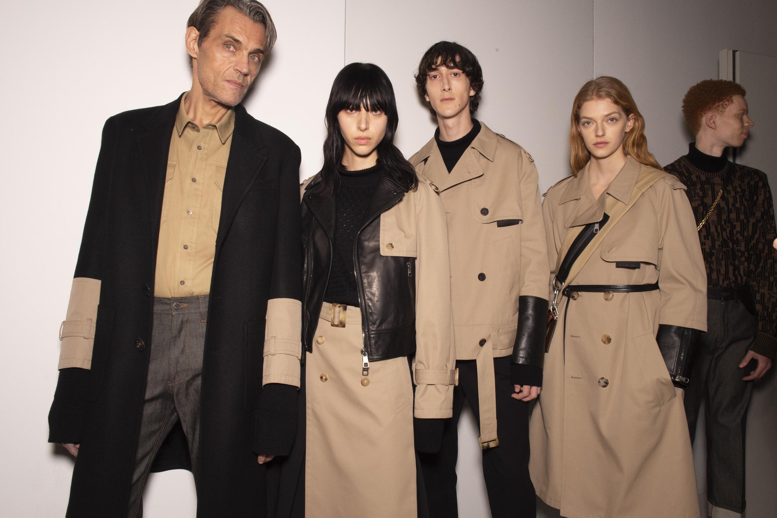 Backstage Neil Barrett Models Winter 2020 Collection Milan Fashion Week