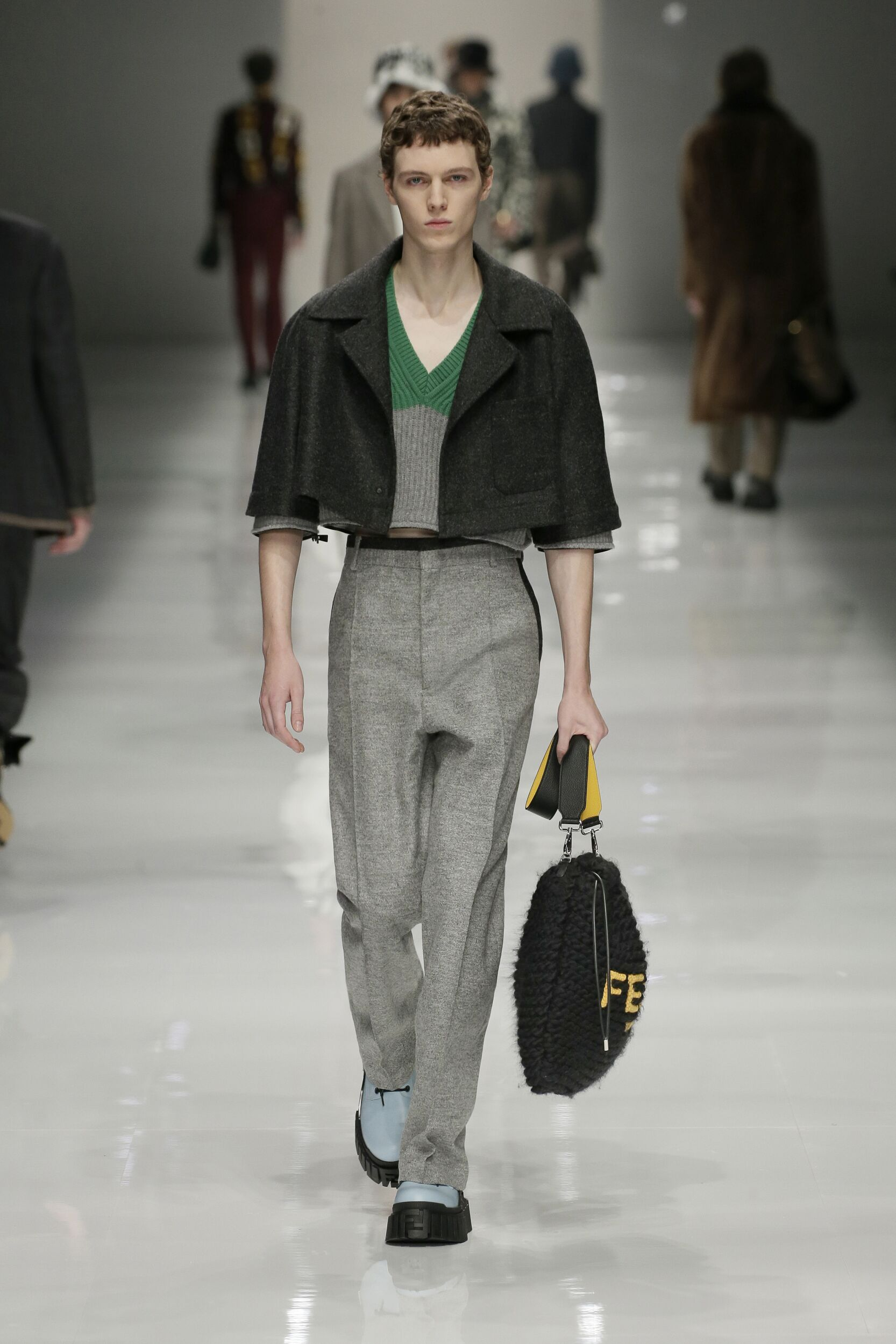 Catwalk Fendi Man Fashion Show Winter 2020