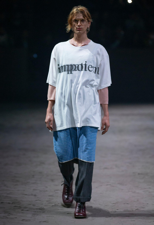 Catwalk Gucci Man Fashion Show Winter 2020