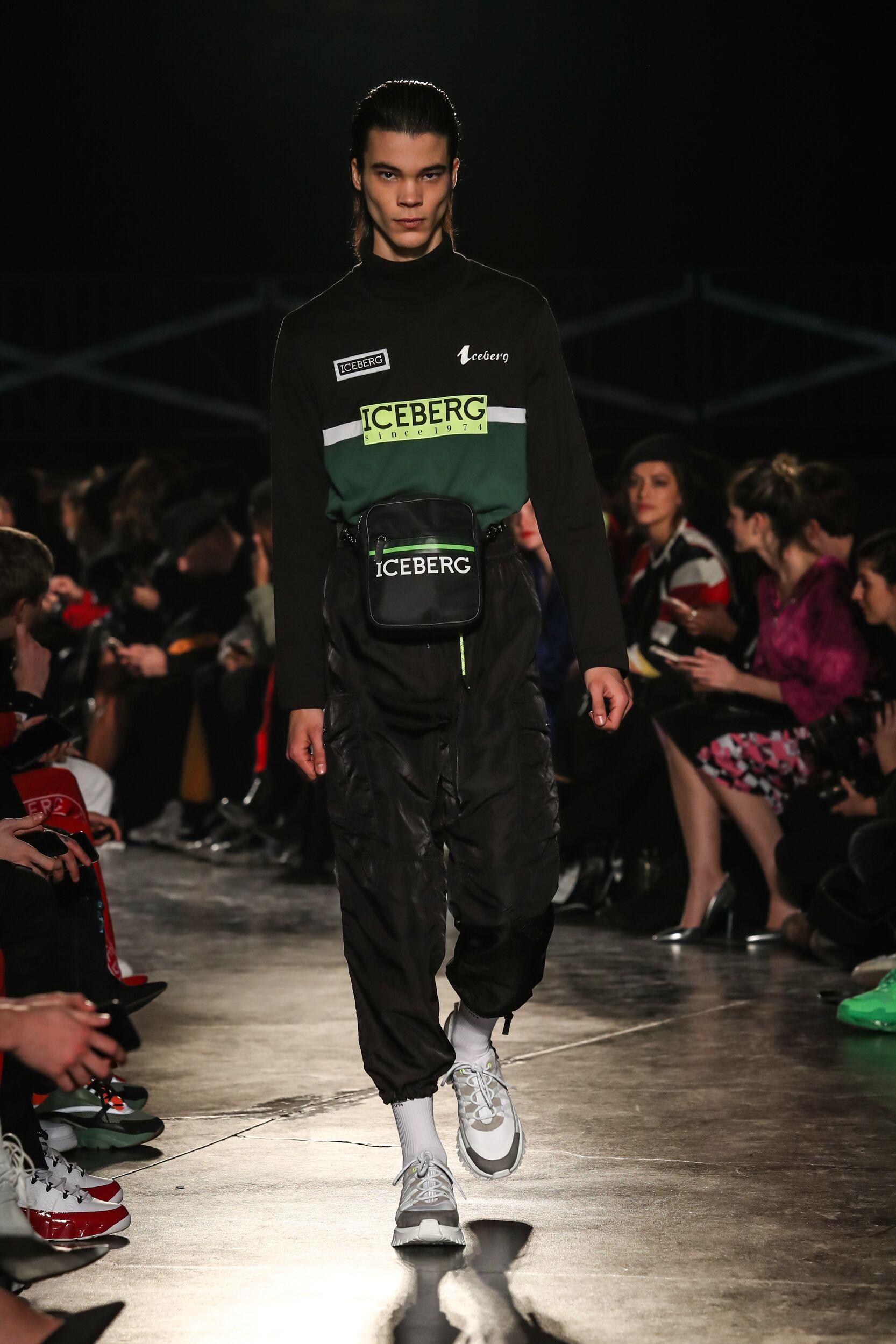 Catwalk Iceberg Man Fashion Show Winter 2020