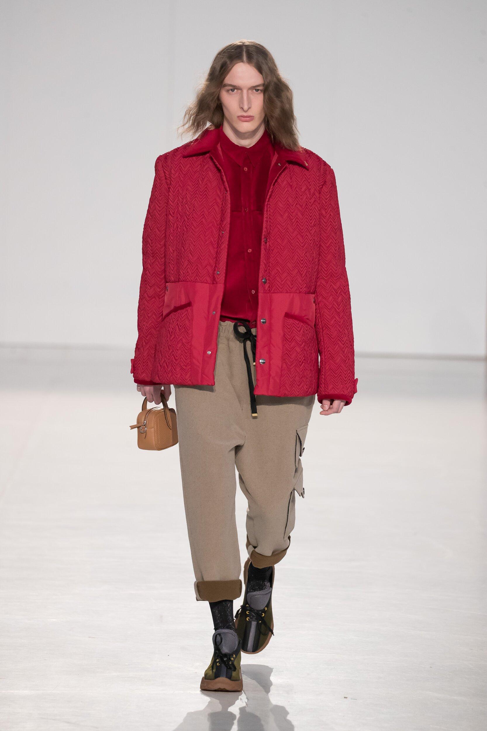 Catwalk Marco De Vincenzo Man Fashion Show Winter 2020