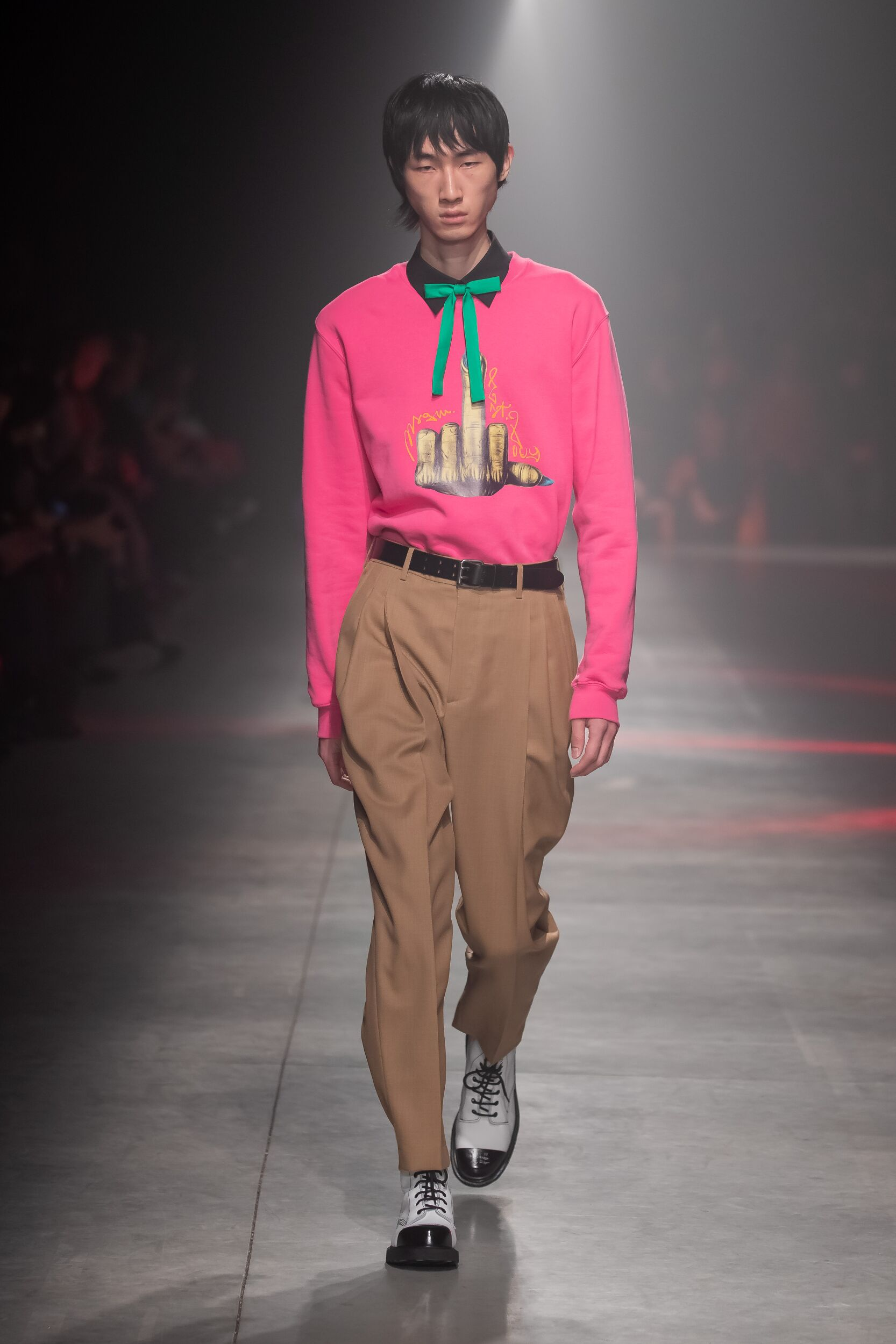 Catwalk MSGM Man Fashion Show Winter 2020