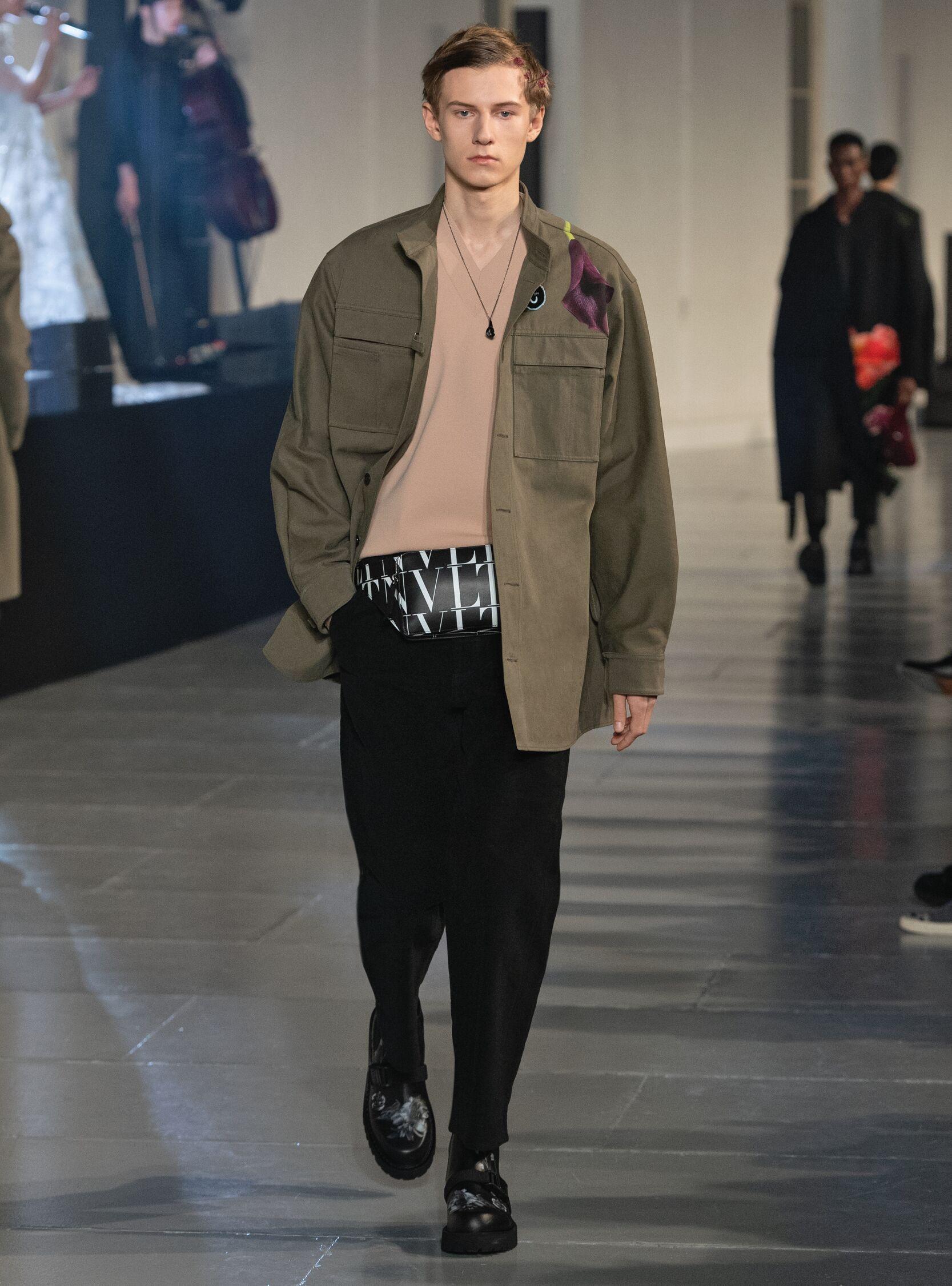 Fashion Model Valentino Catwalk