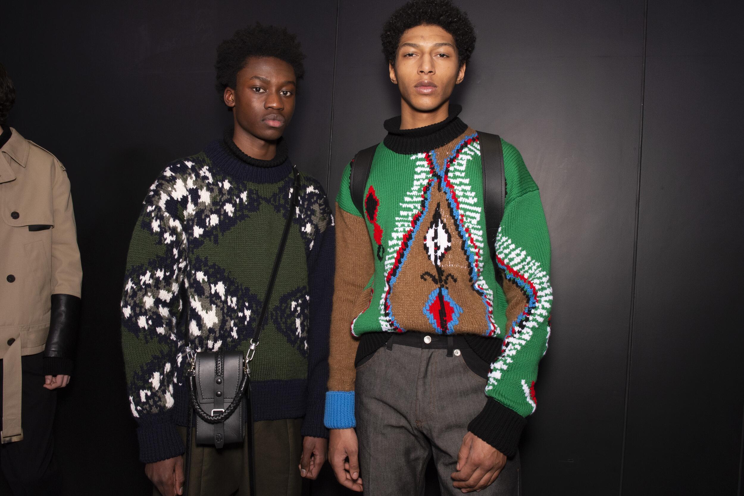 Fashion Models Backstage Neil Barrett Fall Winter 2020 Collection
