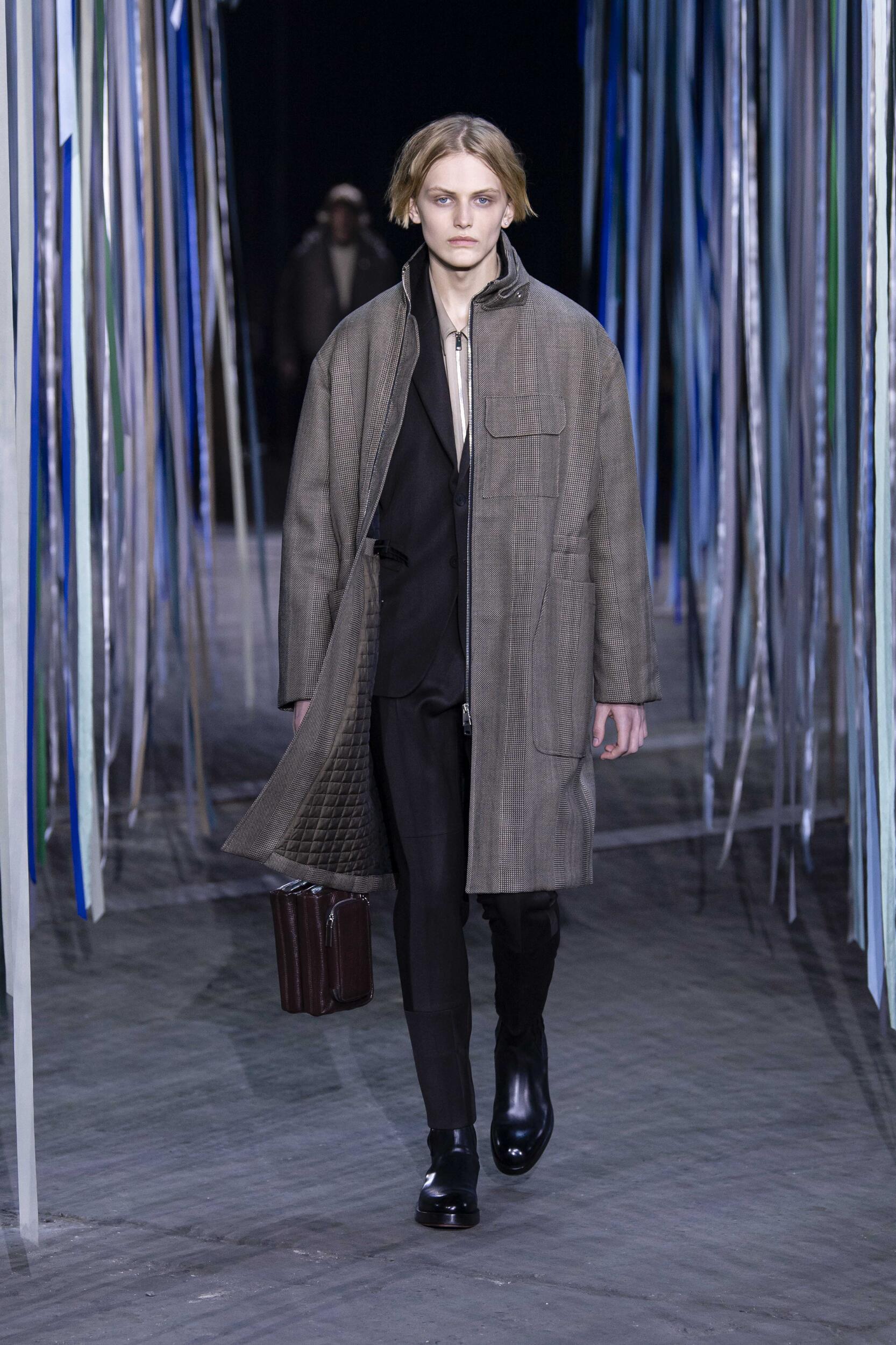 Fashion Show Man Model Ermenegildo Zegna XXX Catwalk