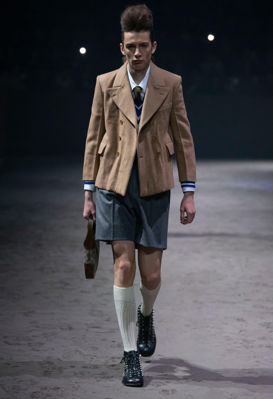 Fashion Show Man Model Gucci Catwalk