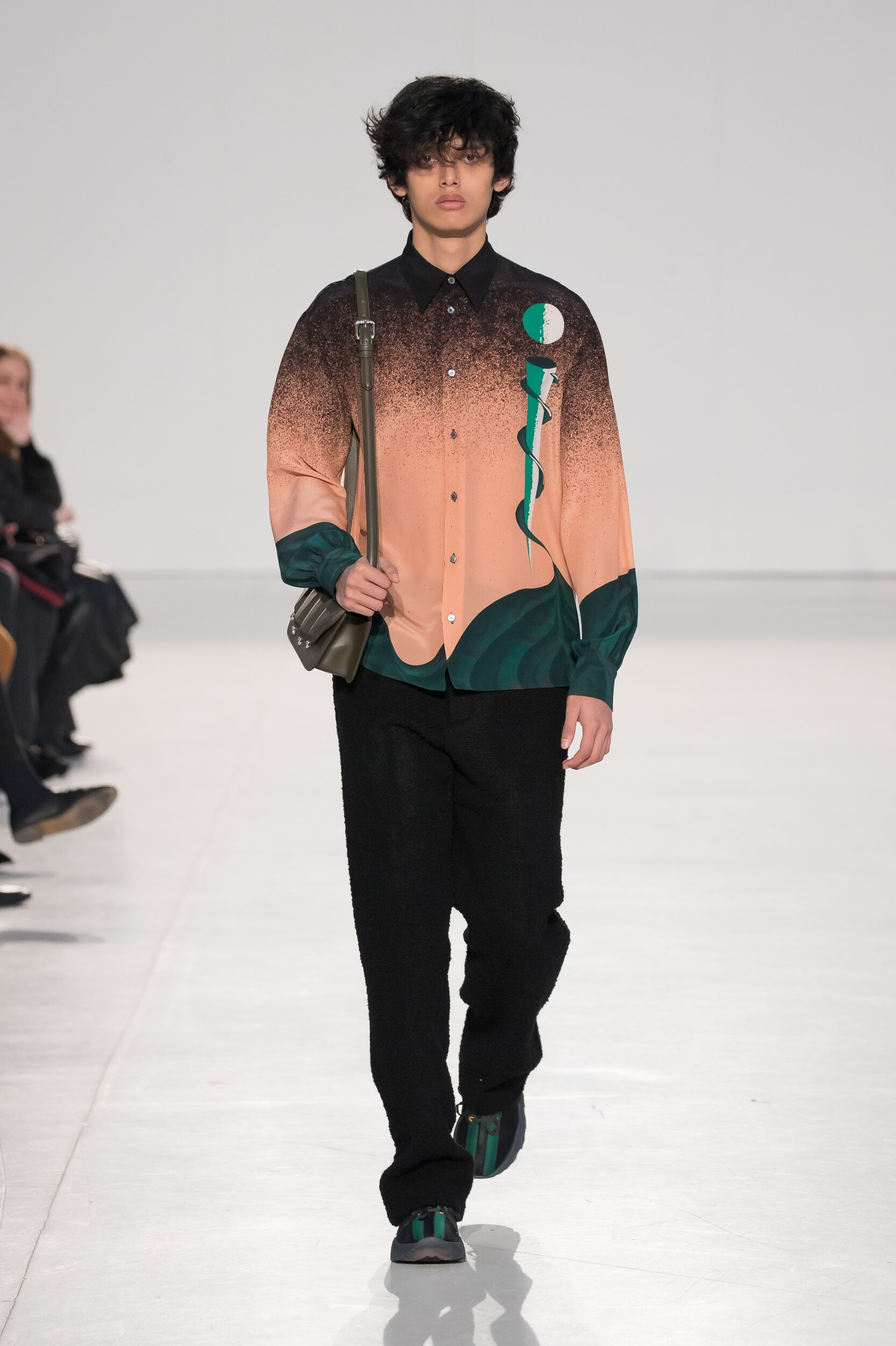 Fashion Show Man Model Marco De Vincenzo Catwalk