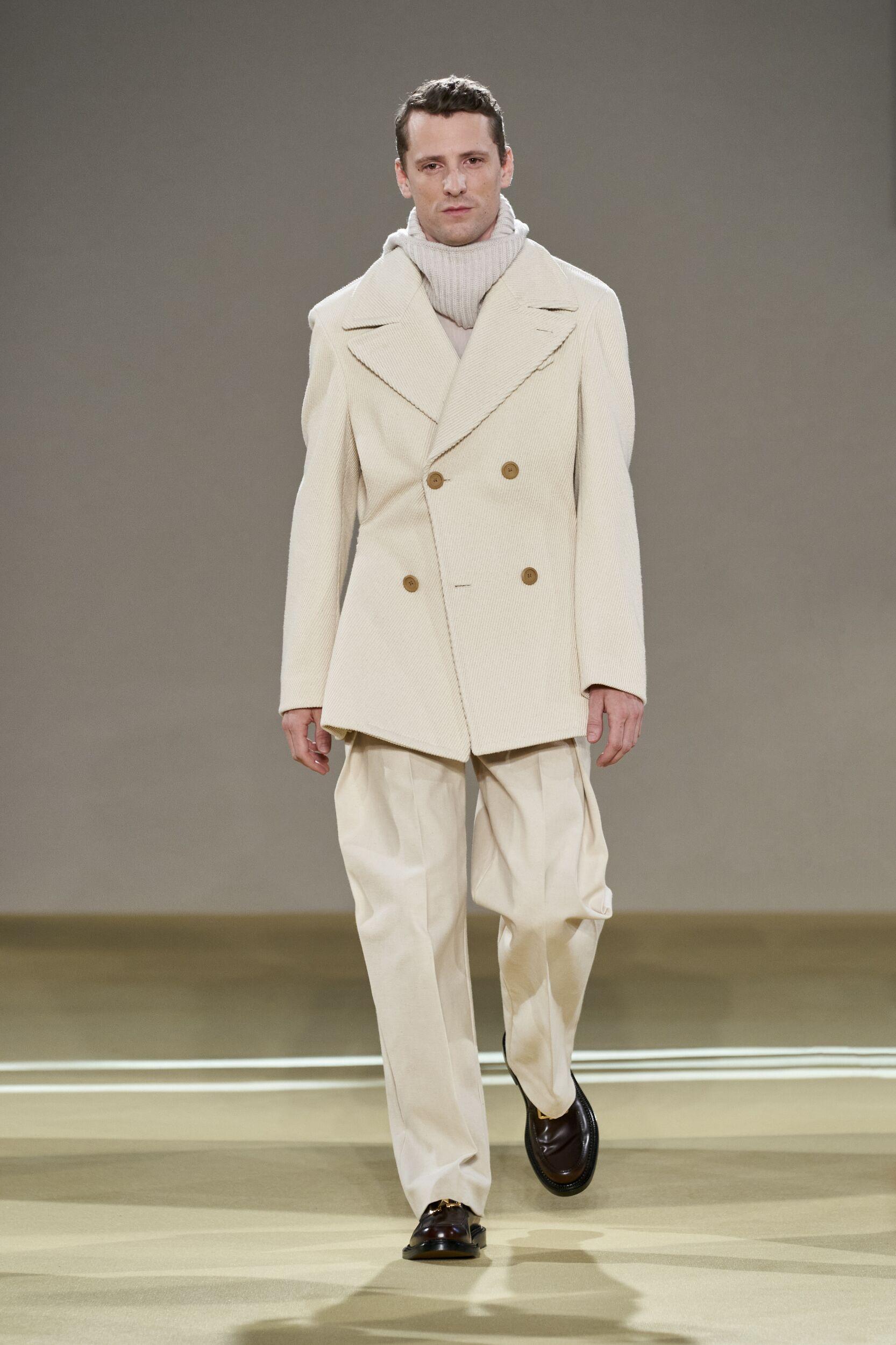 Fashion Show Man Model Salvatore Ferragamo Catwalk