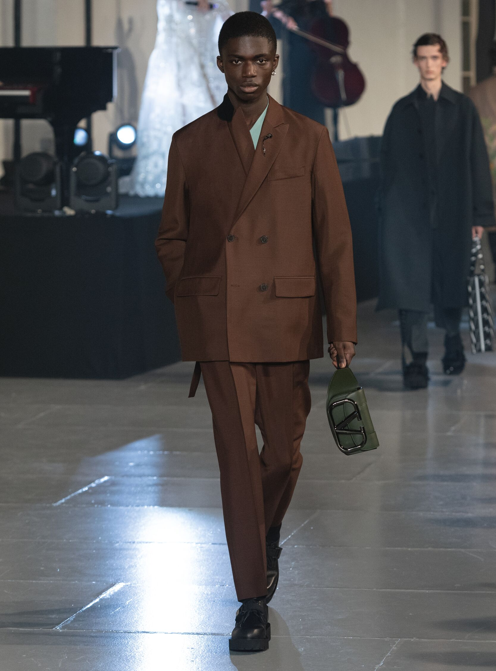 Fashion Show Man Model Valentino Catwalk