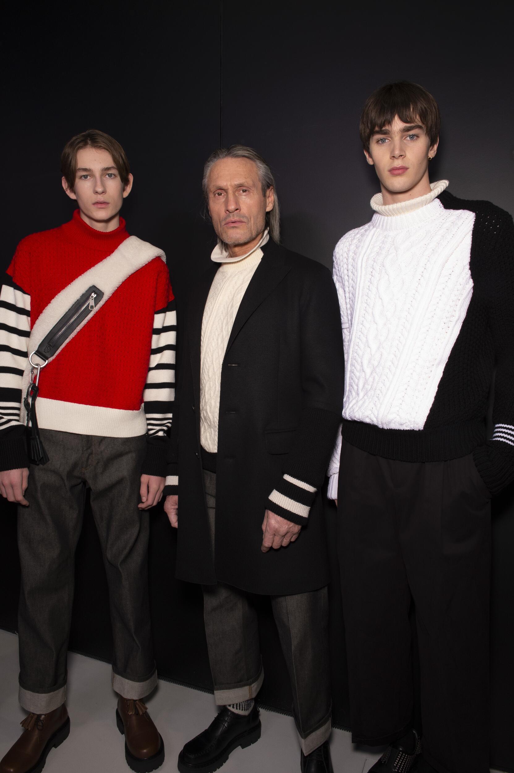 Models Backstage Neil Barrett Fashion Show 2020