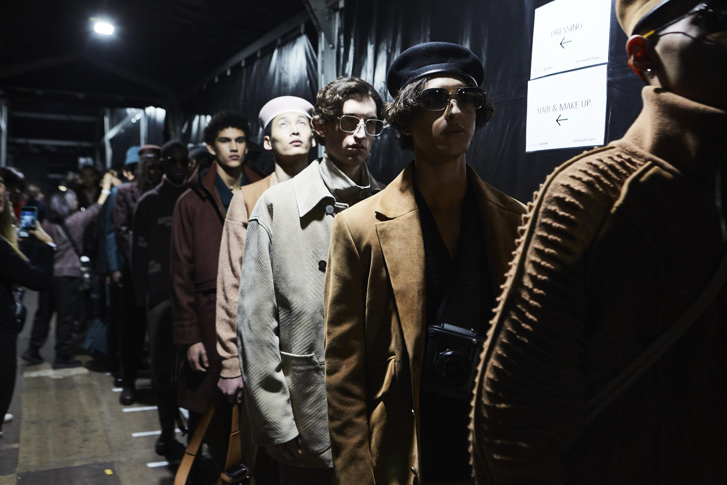 Models Fall Backstage Ermenegildo Zegna XXX