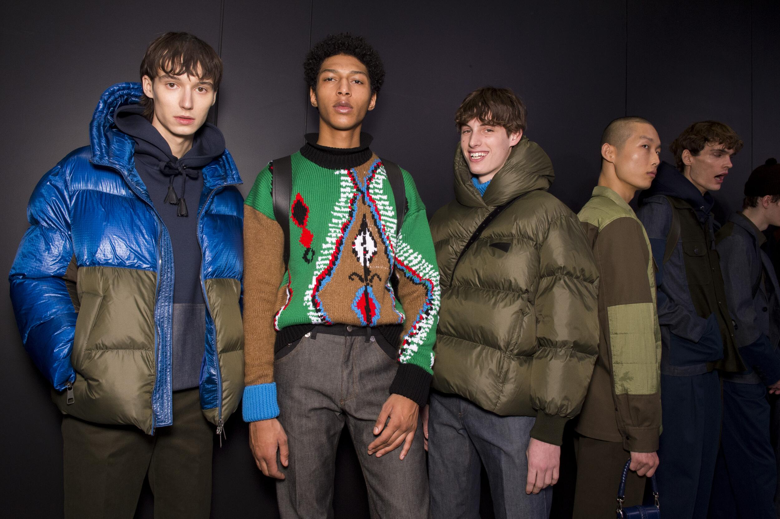 Models Fall Backstage Neil Barrett