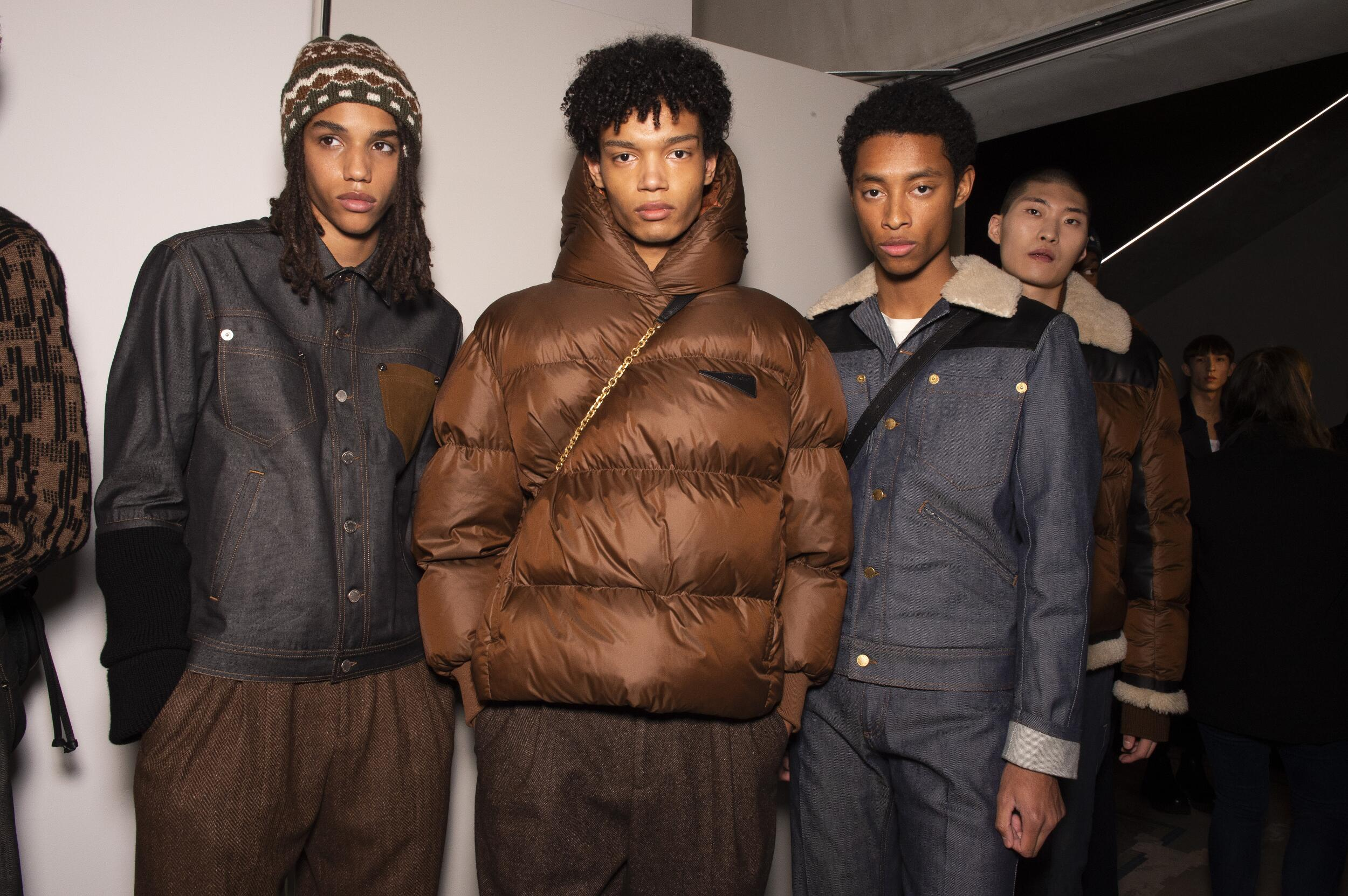 Models Fall Winter 2020 Backstage Neil Barrett