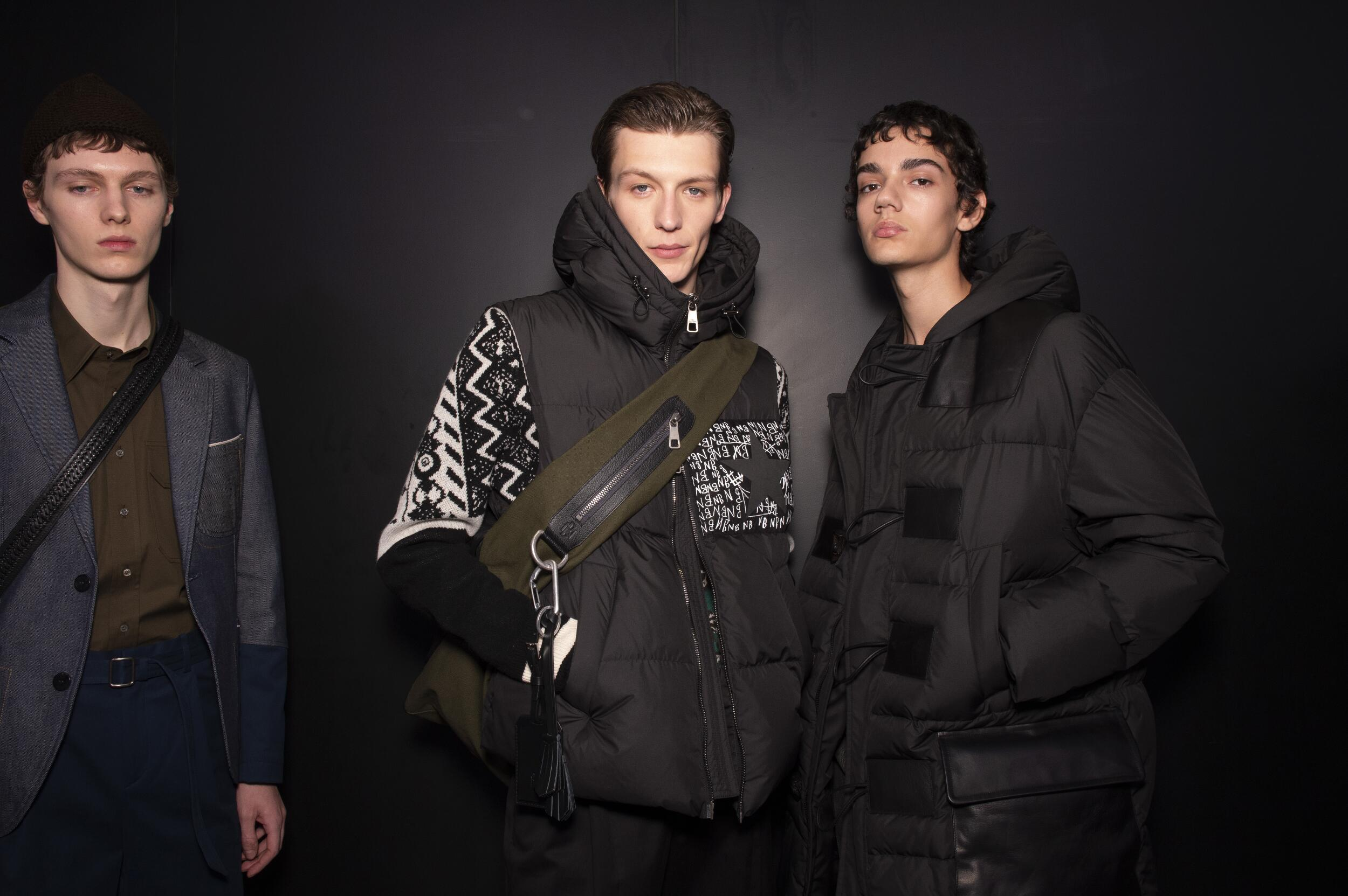 Models Menswear 2020 Backstage Neil Barrett