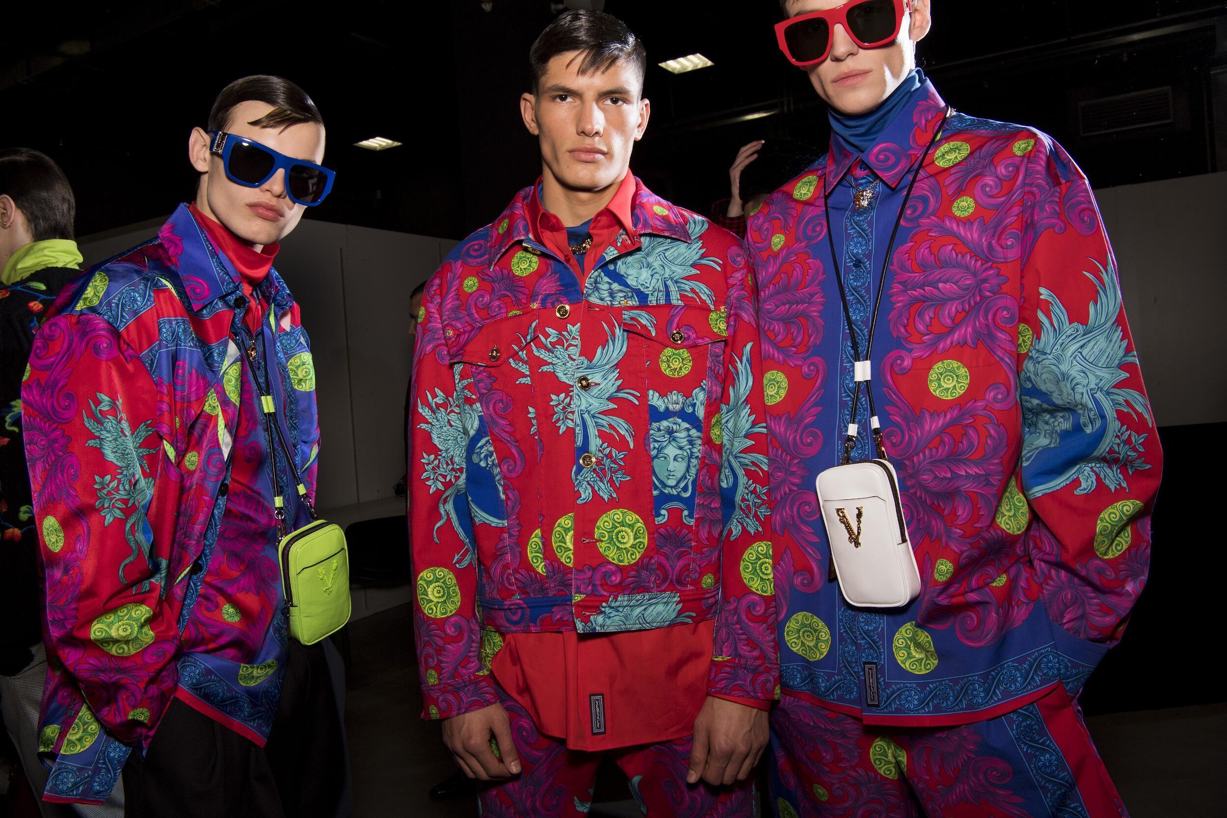 2020-21 Backstage Versace Men Models