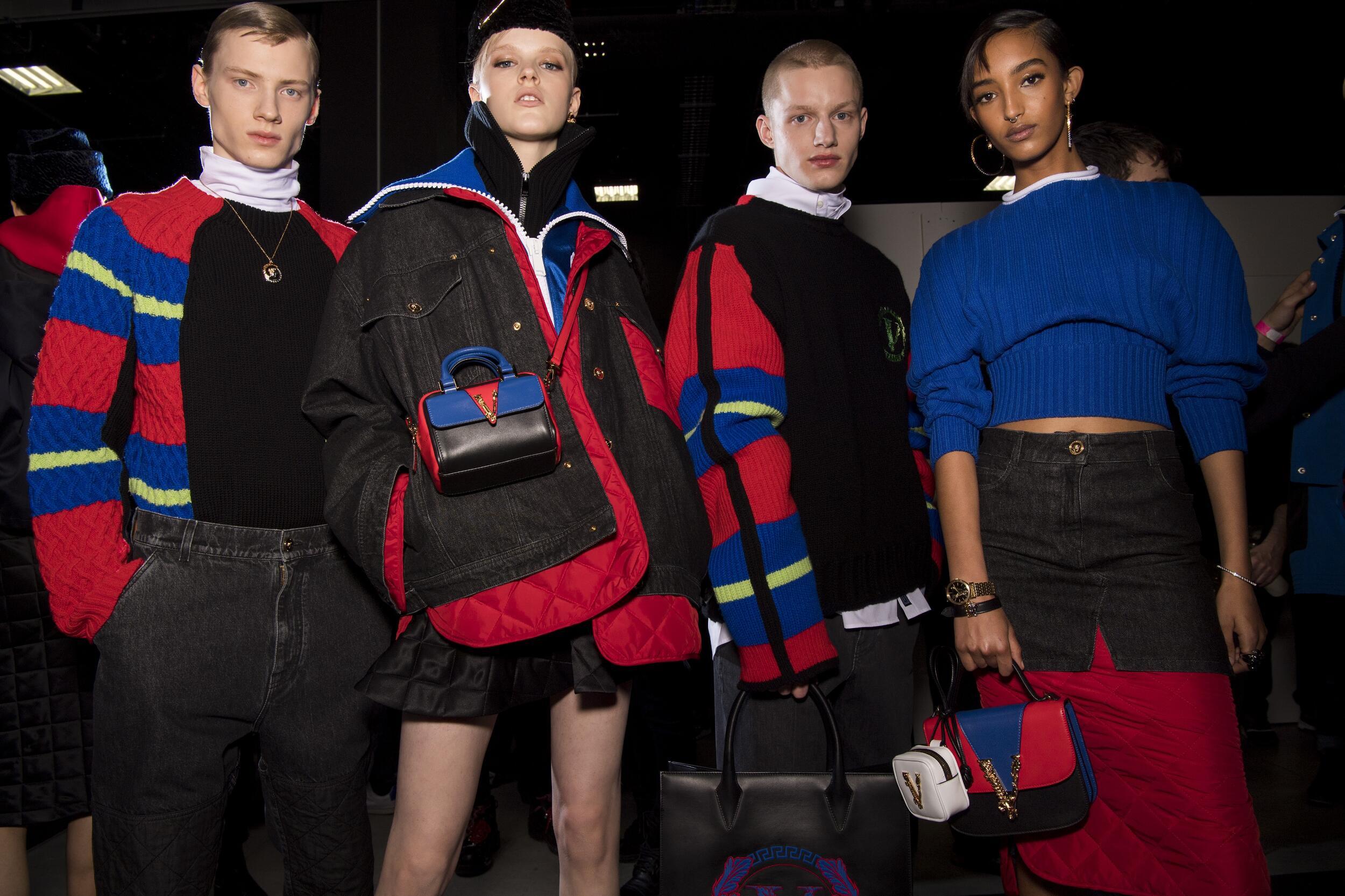 2020-21 Models Backstage Versace