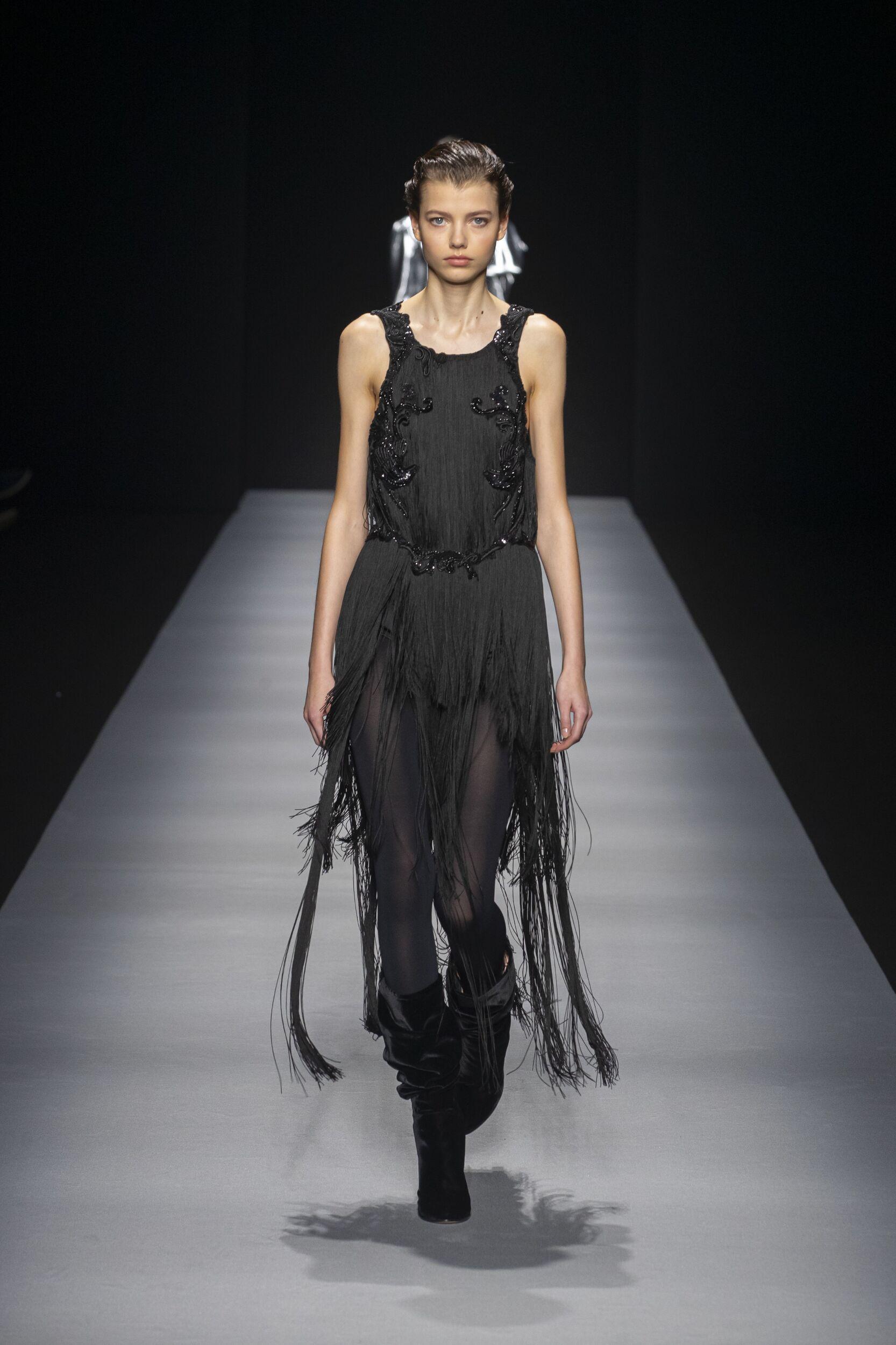 2020 Catwalk Alberta Ferretti Woman Fashion Show Winter