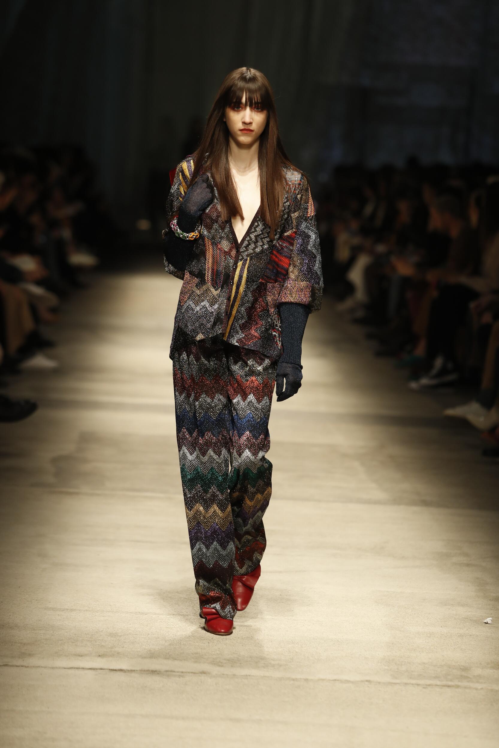2020 Catwalk Missoni Woman Fashion Show Winter