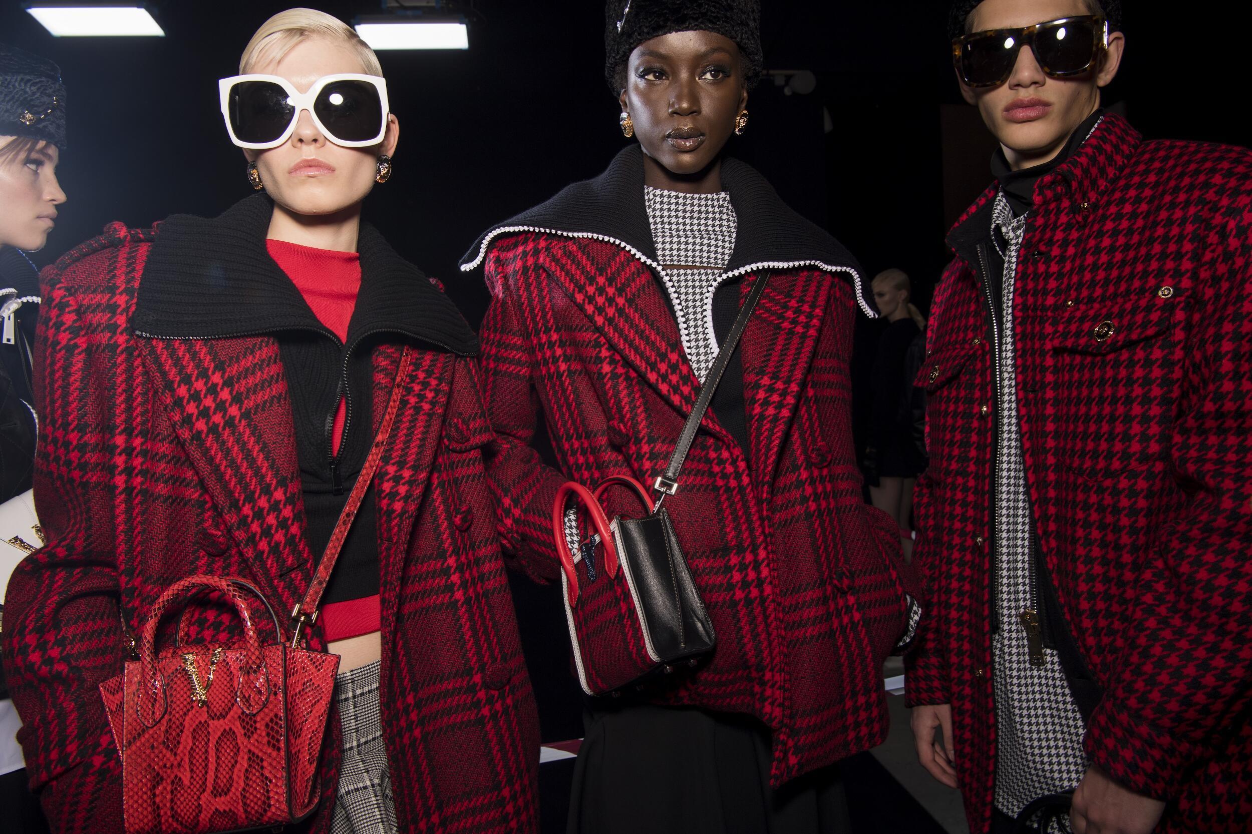 2020 Models Backstage Versace