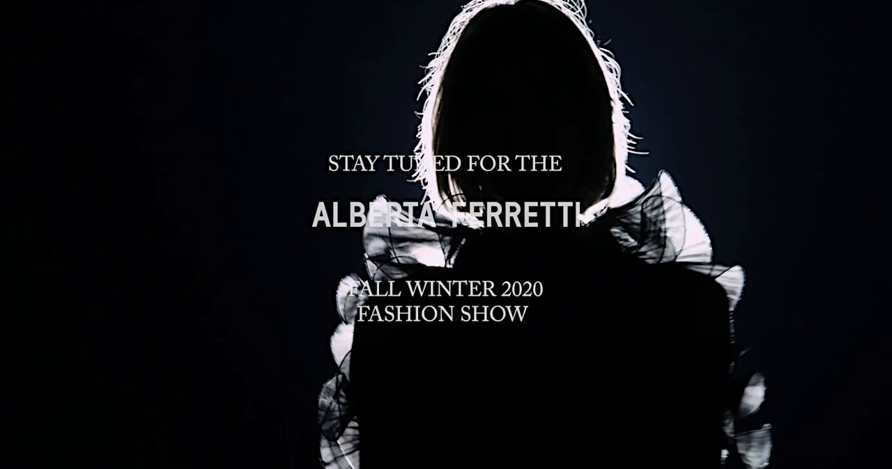 Alberta Ferretti Fall Winter 2020 Fashion Show Live Streaming Milan