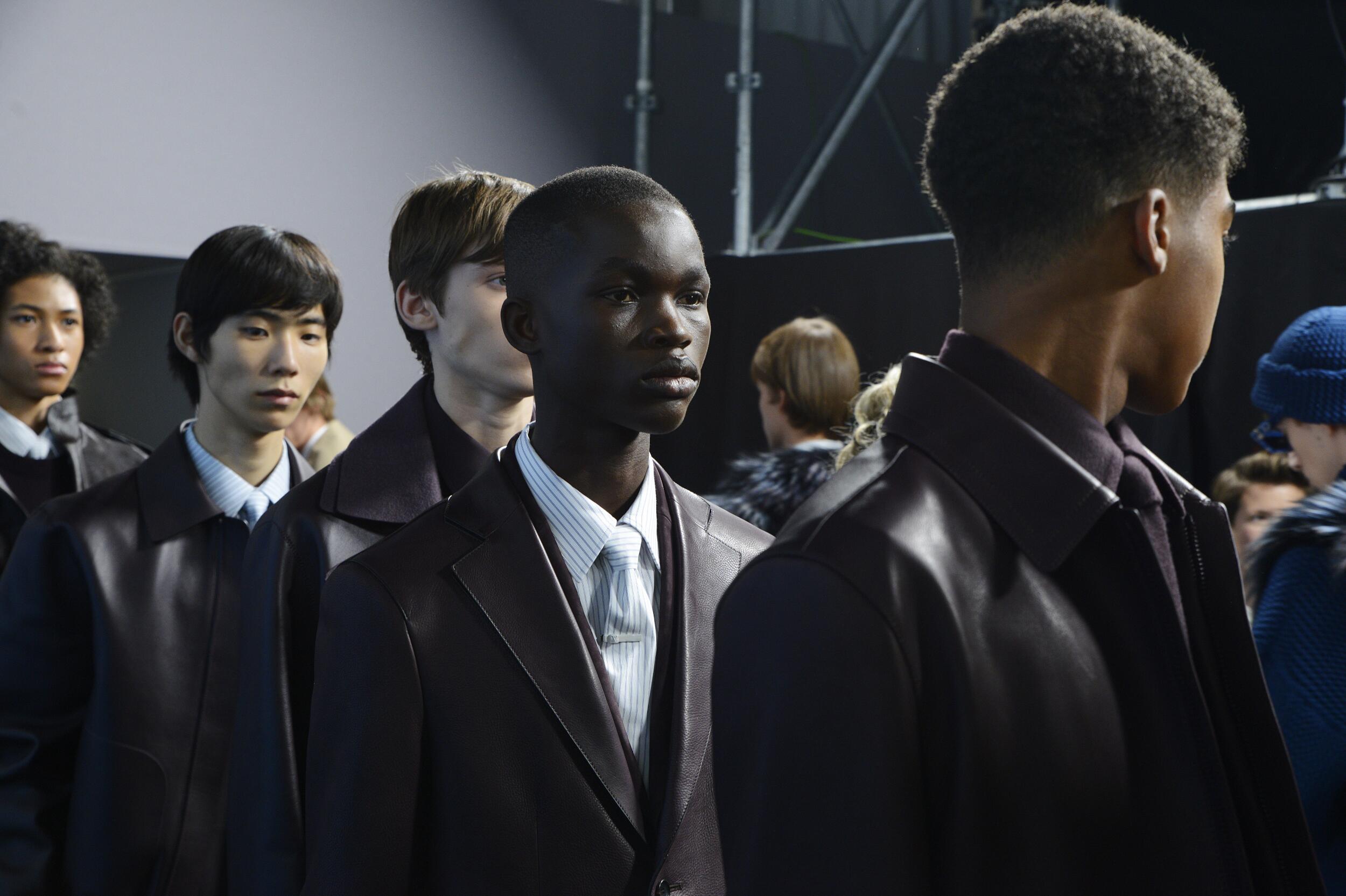 Backstage Louis Vuitton Models Winter 2020 Collection Paris Fashion Week