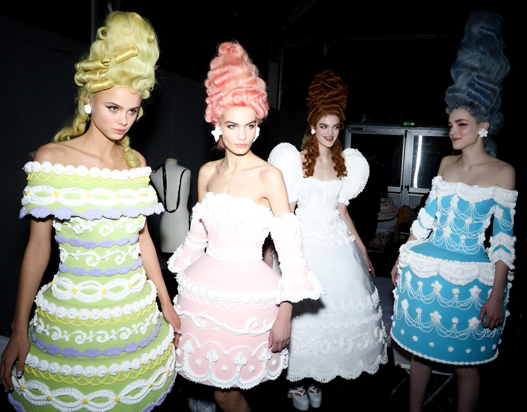Backstage Moschino Models Womenswear 2020