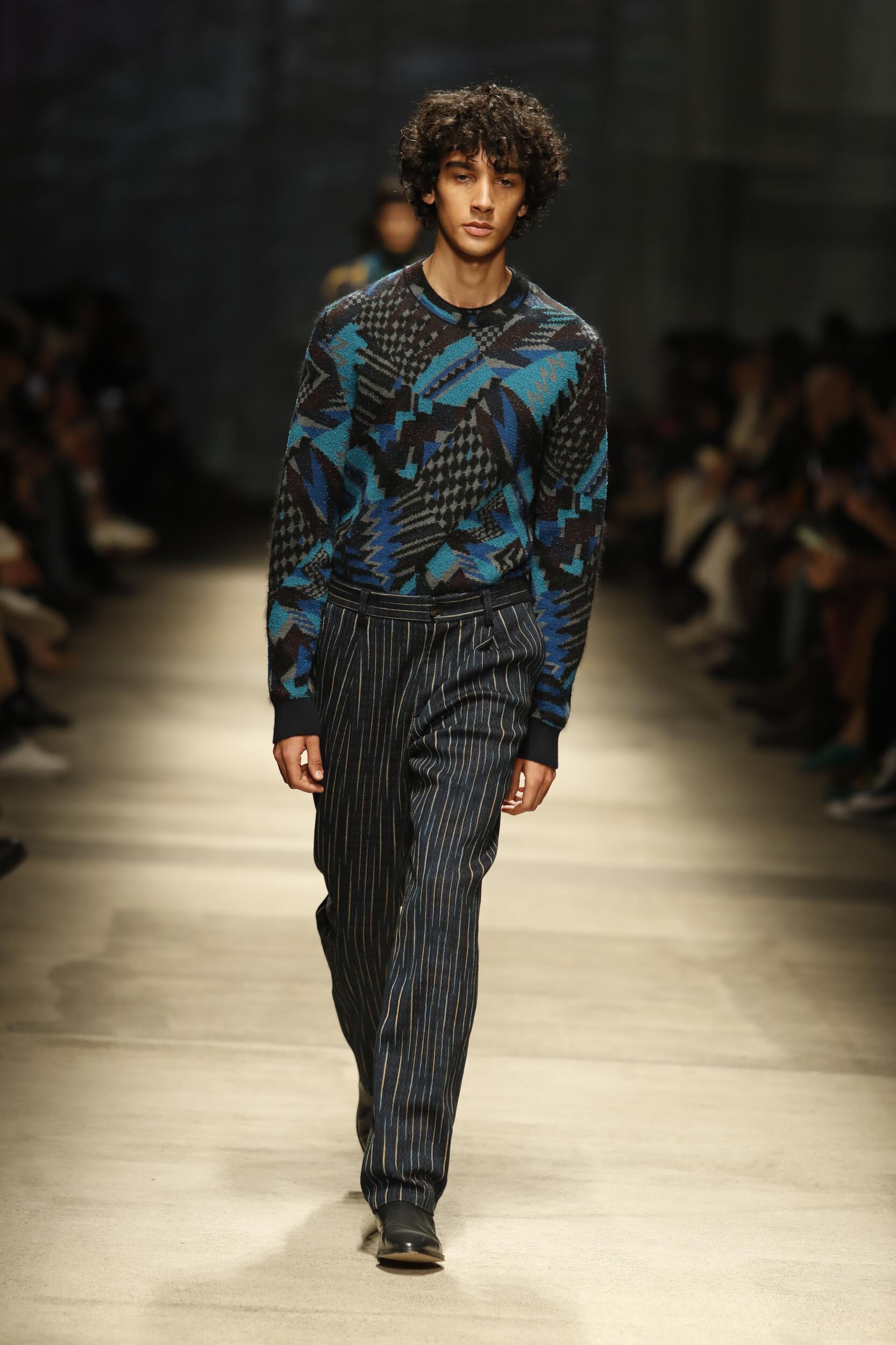 Fashion 2020 Runway Man Missoni Winter