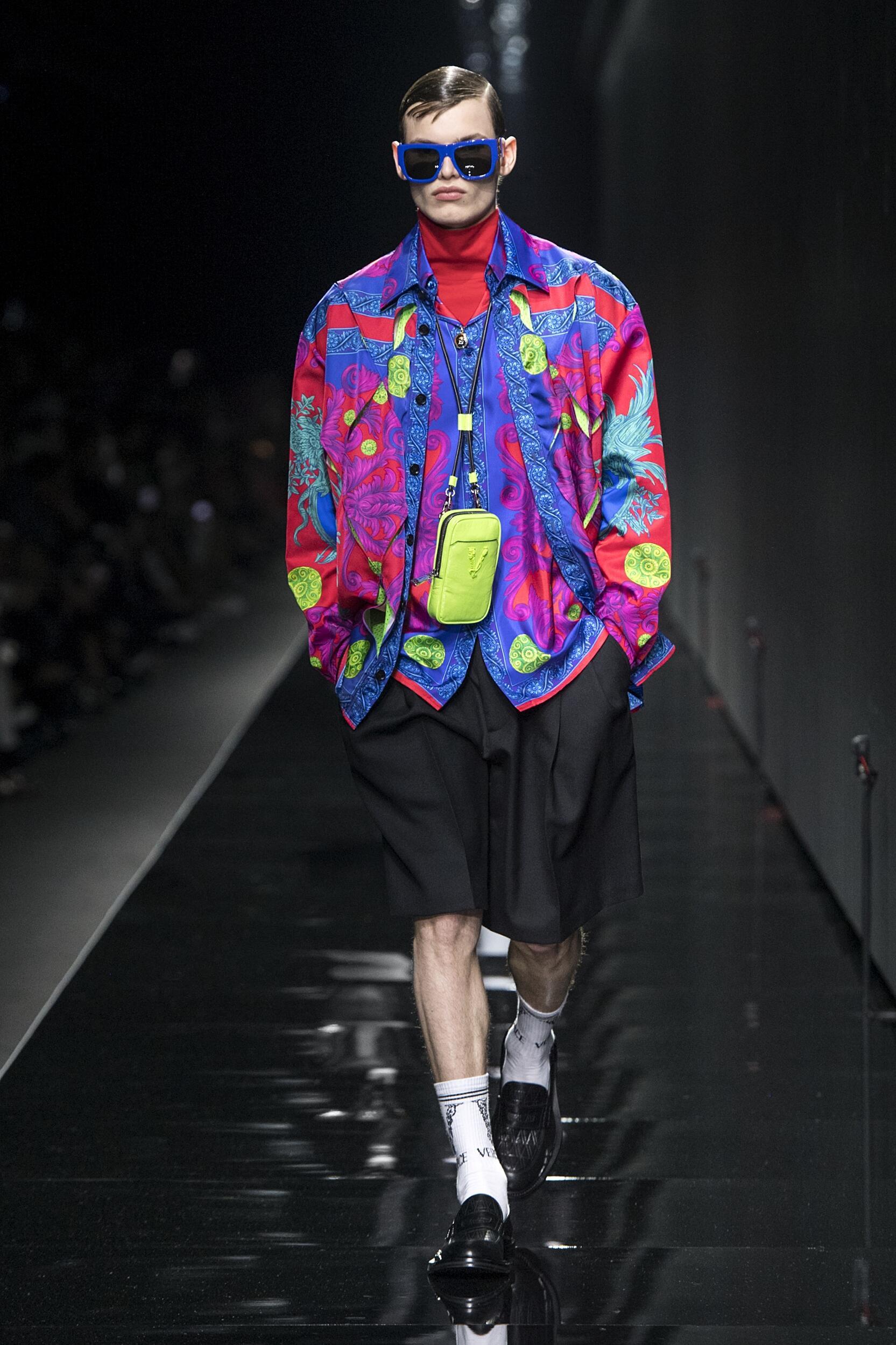 Fashion 2020 Runway Man Versace Winter