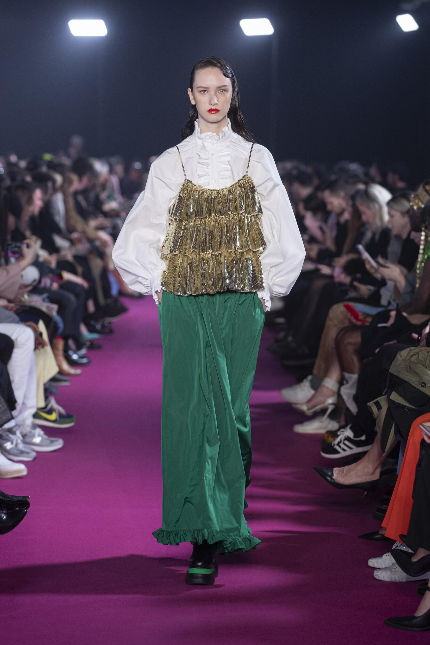 Fashion 2020 Runway Woman MSGM Winter