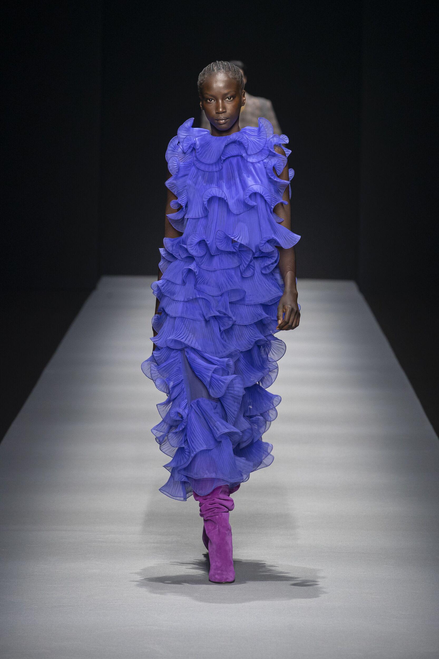 Fashion Model Alberta Ferretti Catwalk