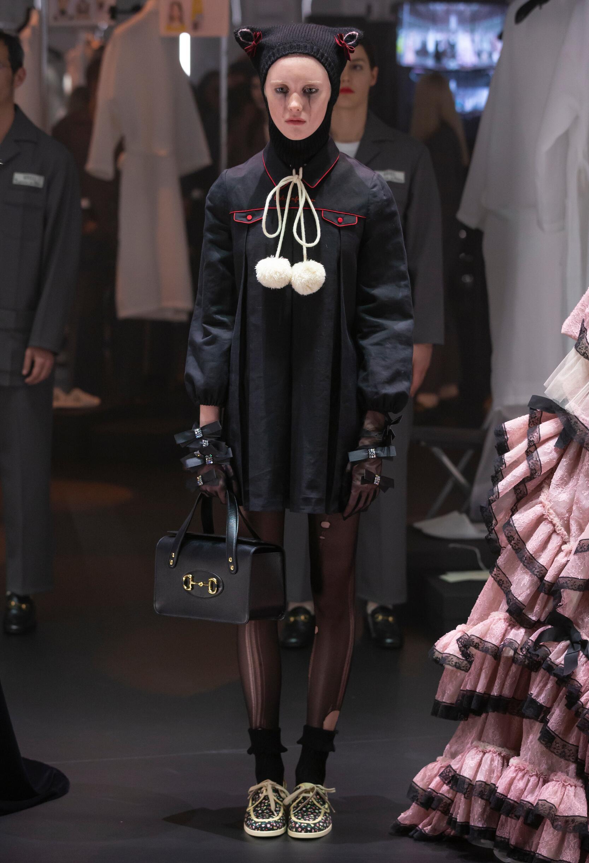 Fashion Model Gucci Catwalk