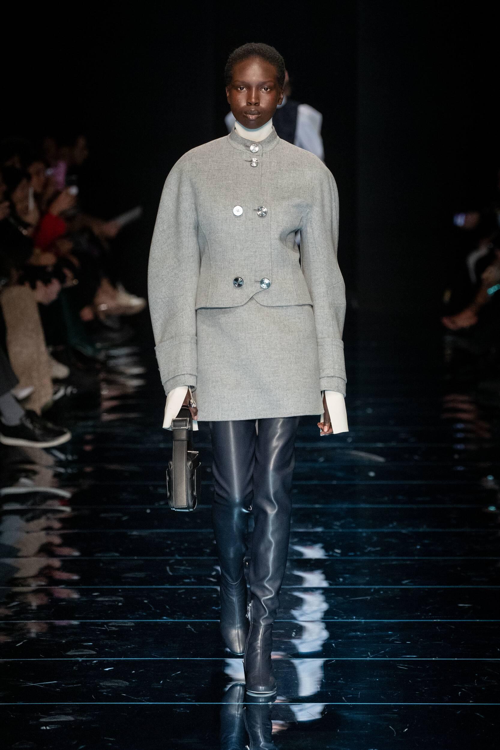 Fashion Model Sportmax Catwalk