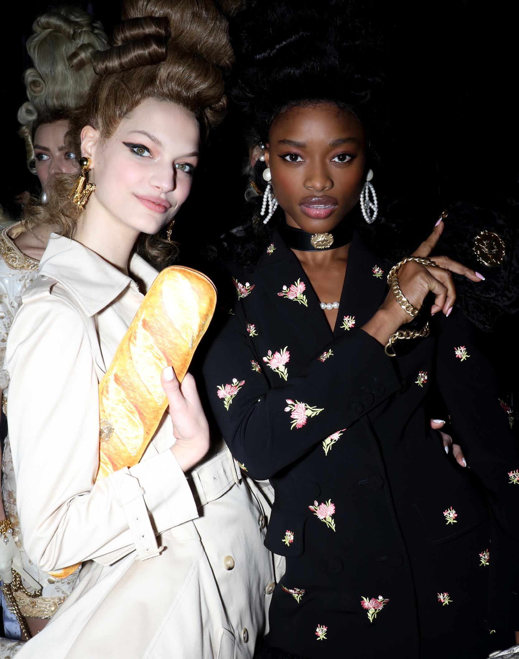 Fashion Models Backstage Moschino Fall Winter 2020 Collection