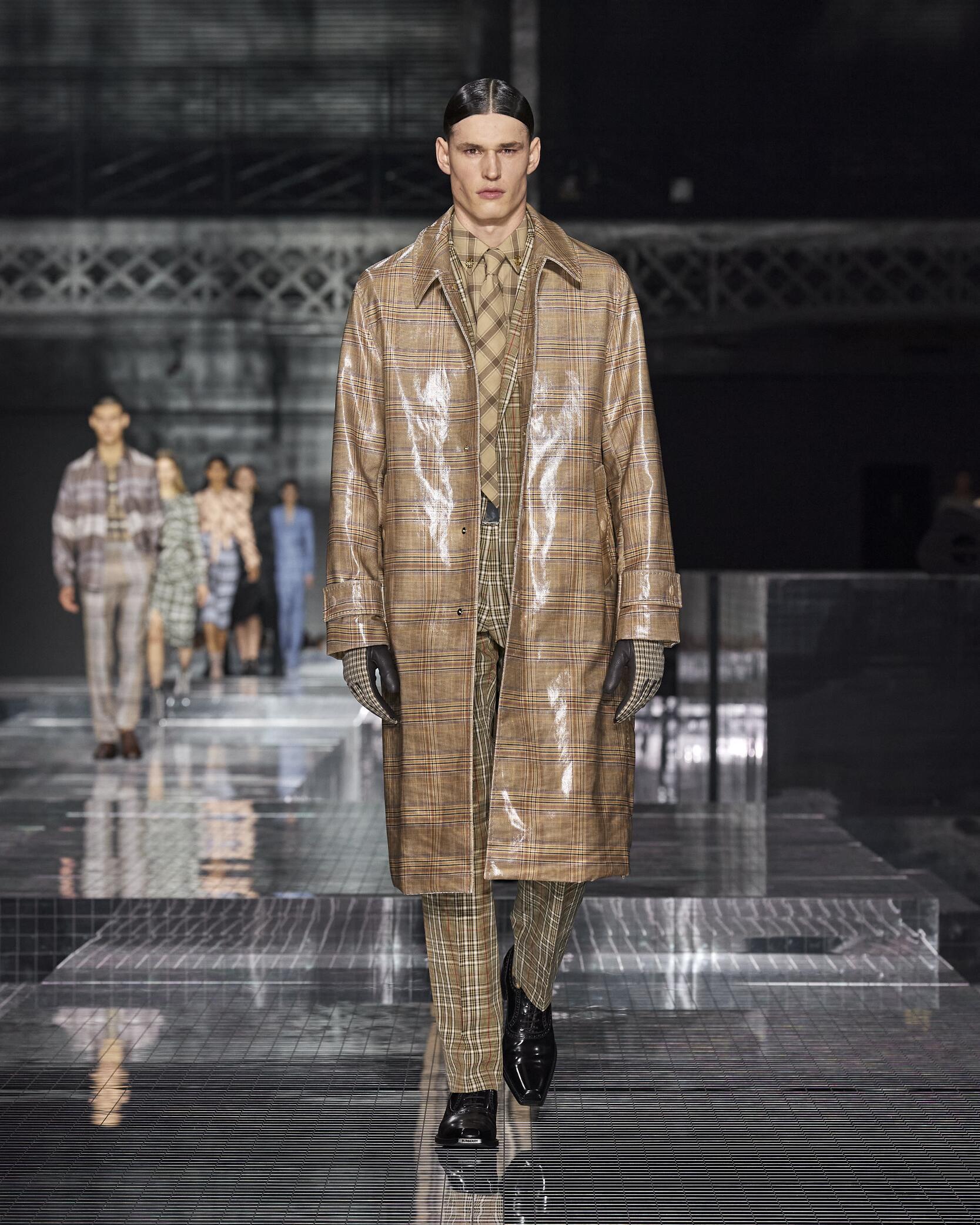 Fashion Show Man Model Burberry Catwalk