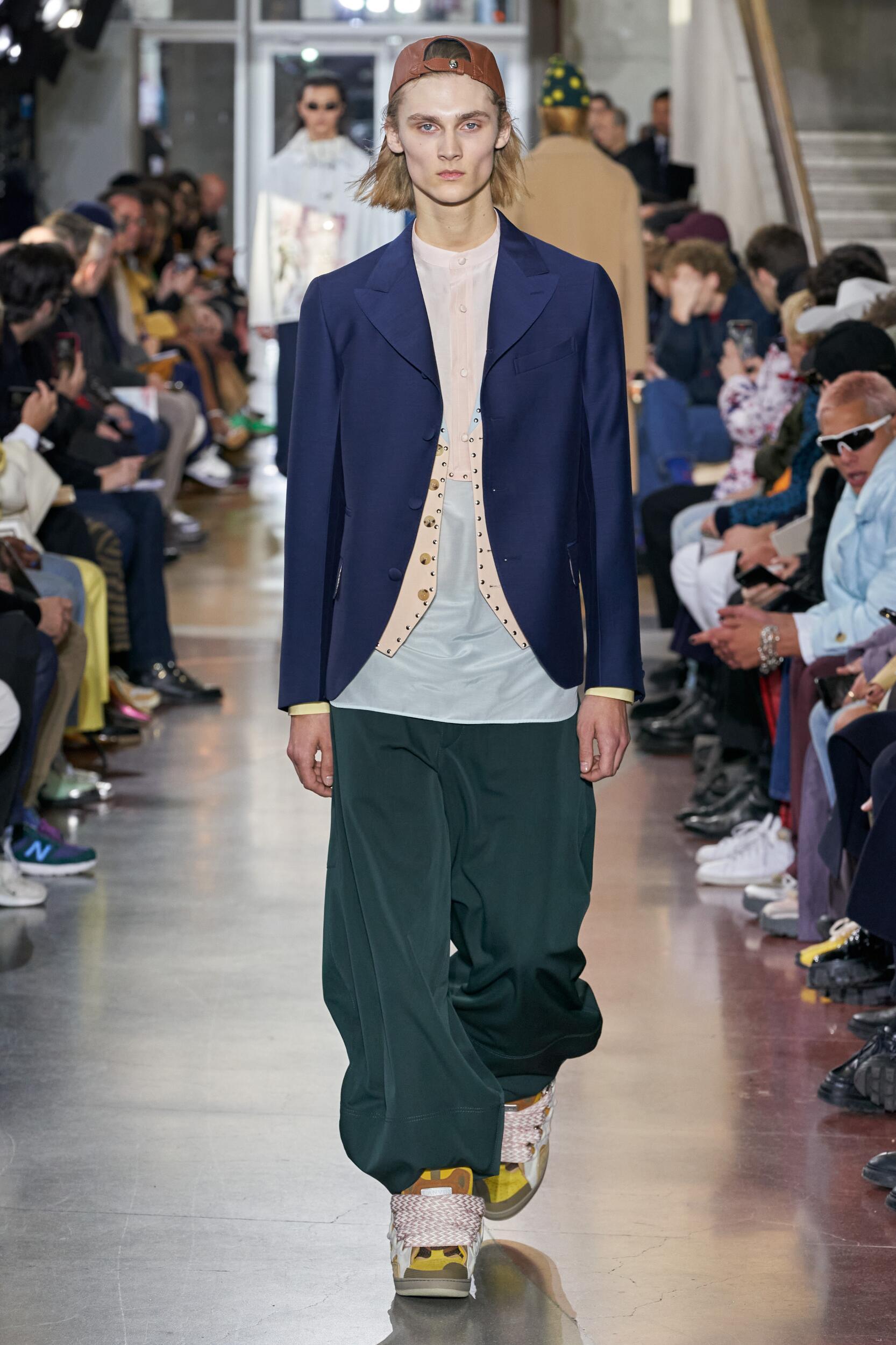 Fashion Show Man Model Lanvin Catwalk