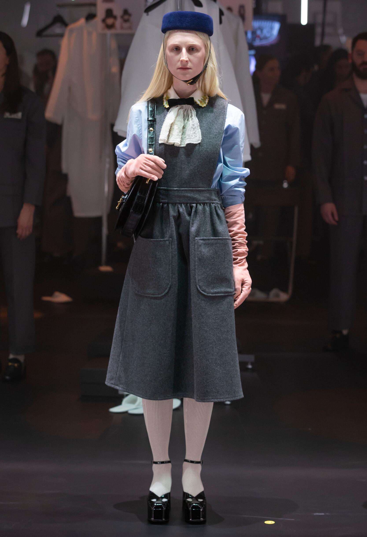 Fashion Show Woman Model Gucci Catwalk