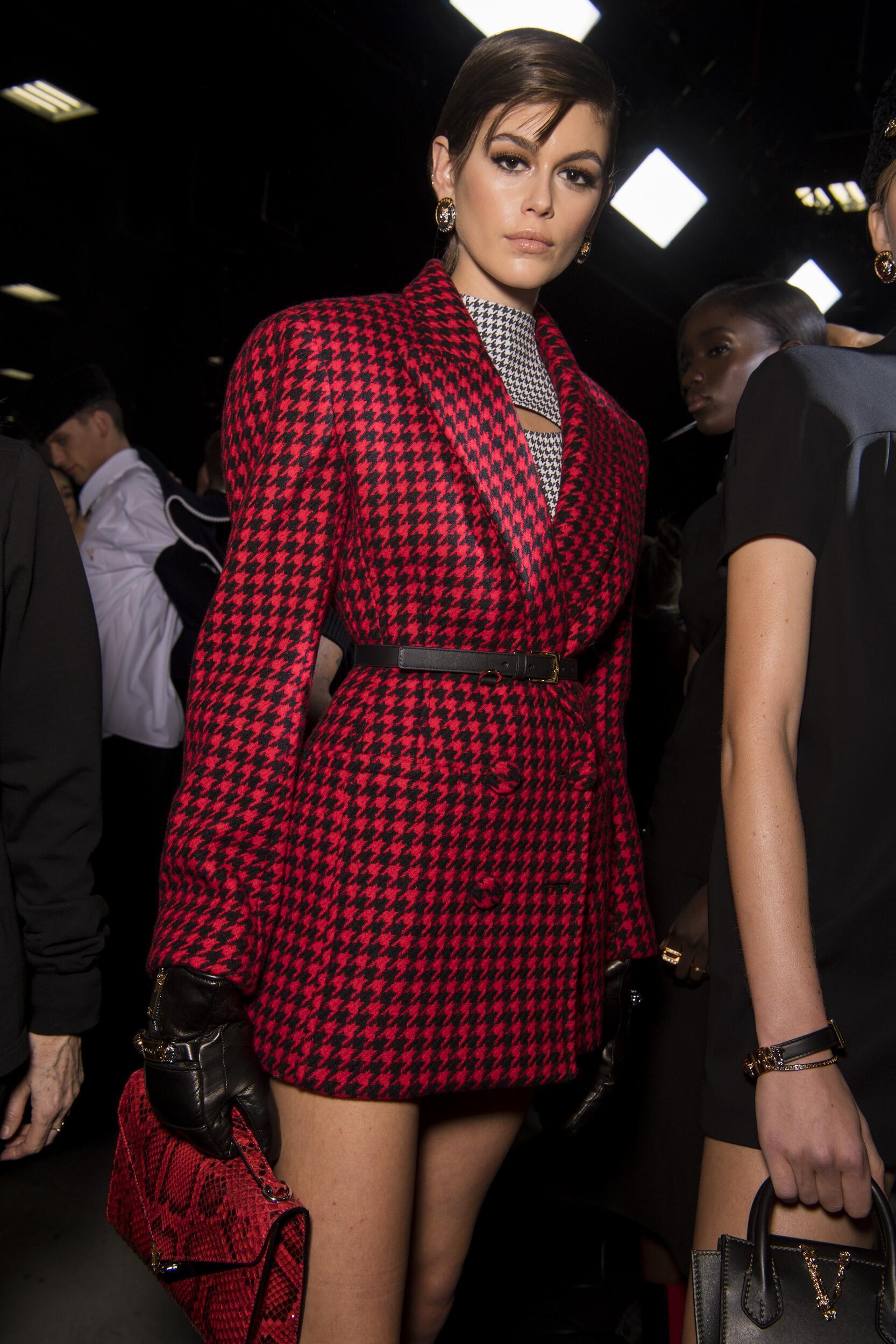 Fashion Woman Backstage Versace