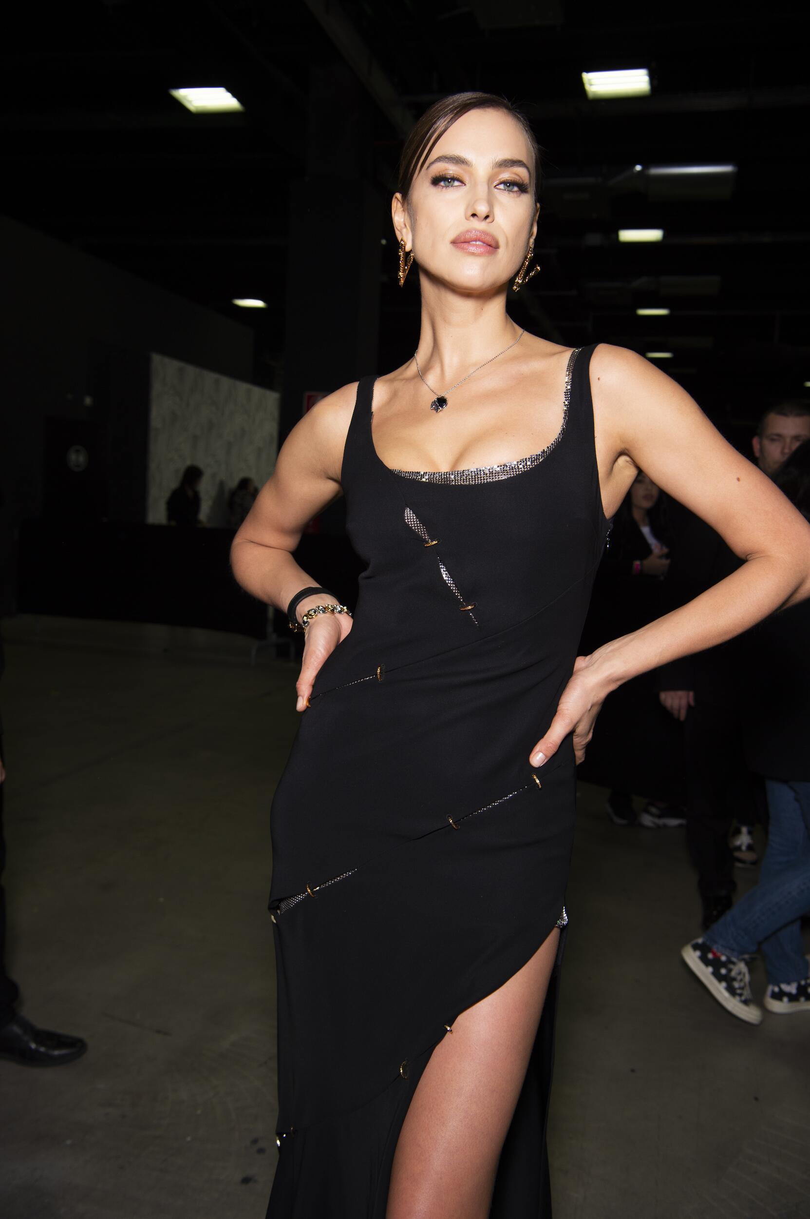 Irina Shayk Backstage Versace