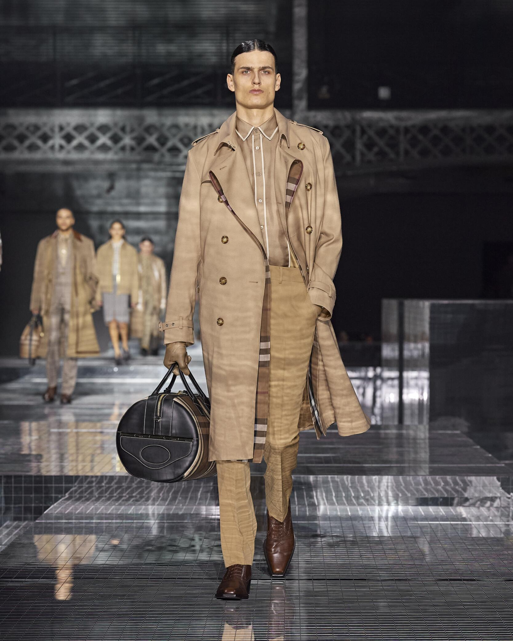 Menswear Model Burberry Catwalk