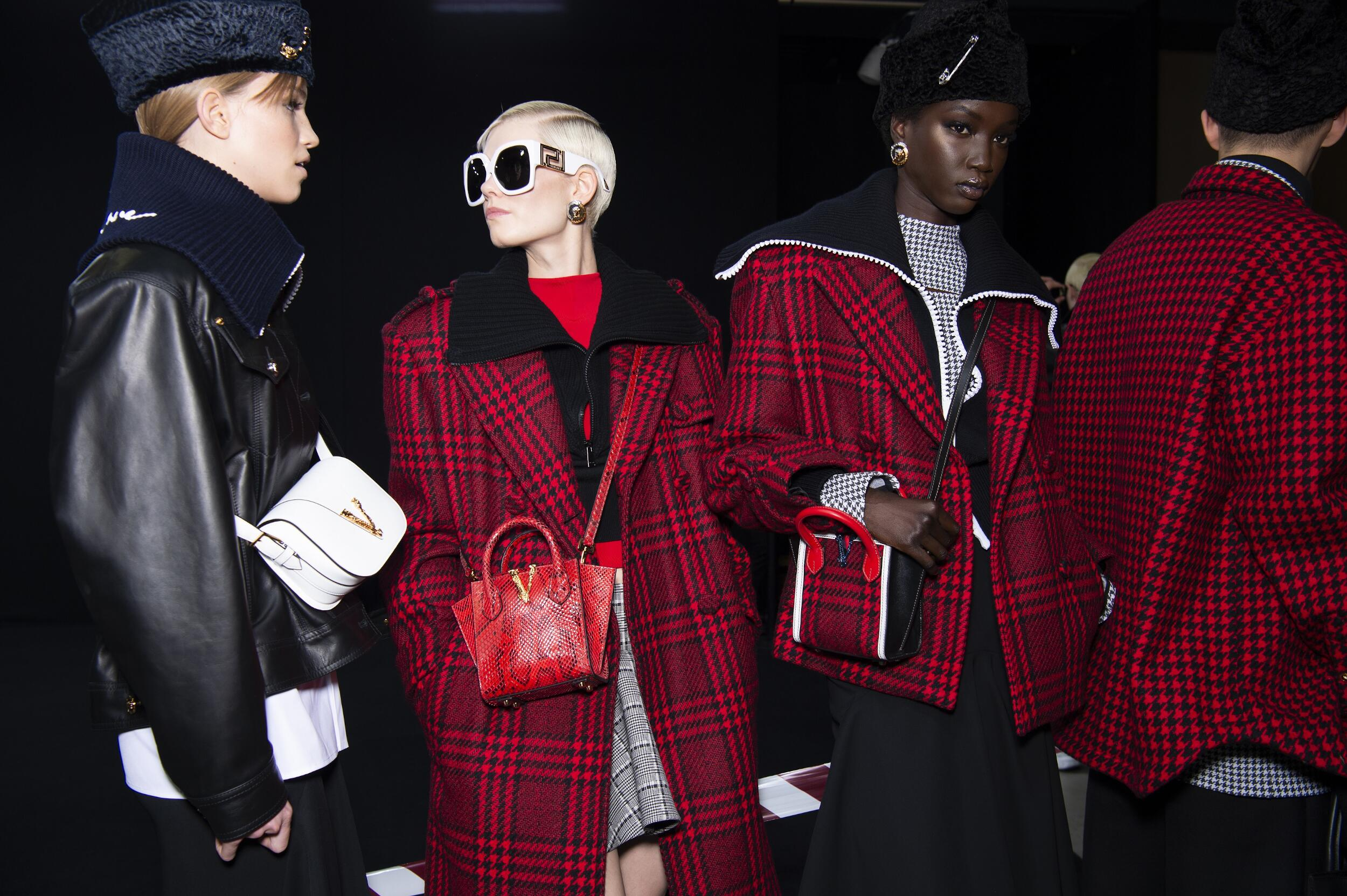 Models Backstage Versace Fashion Show 2020