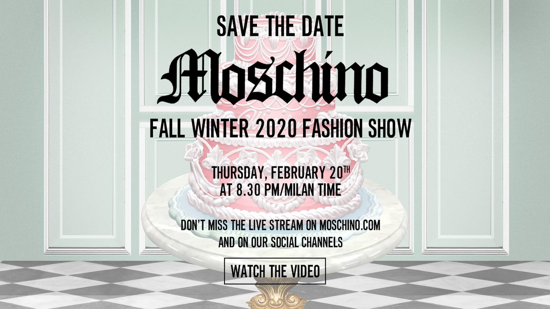 Moschino Fall Winter 2020 Fashion Show Live Streaming Milan