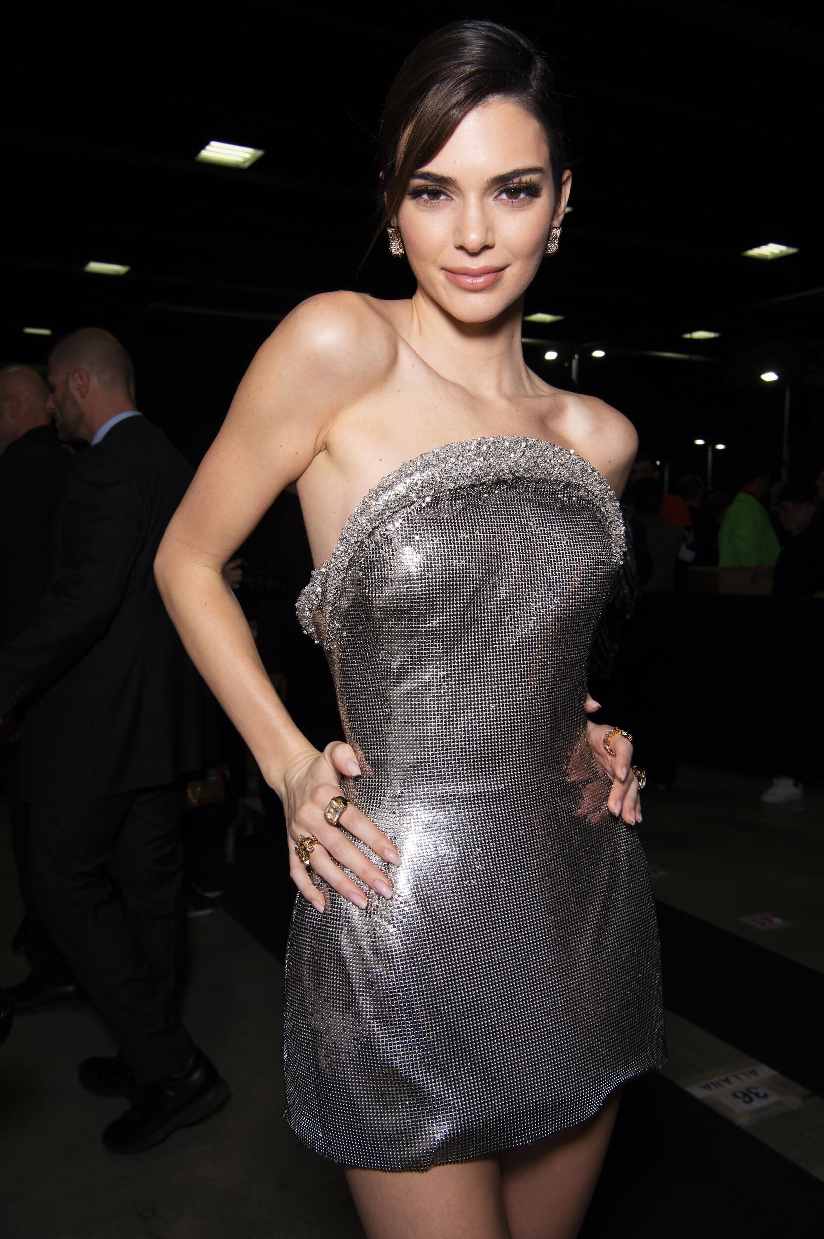 Woman Model Backstage Versace